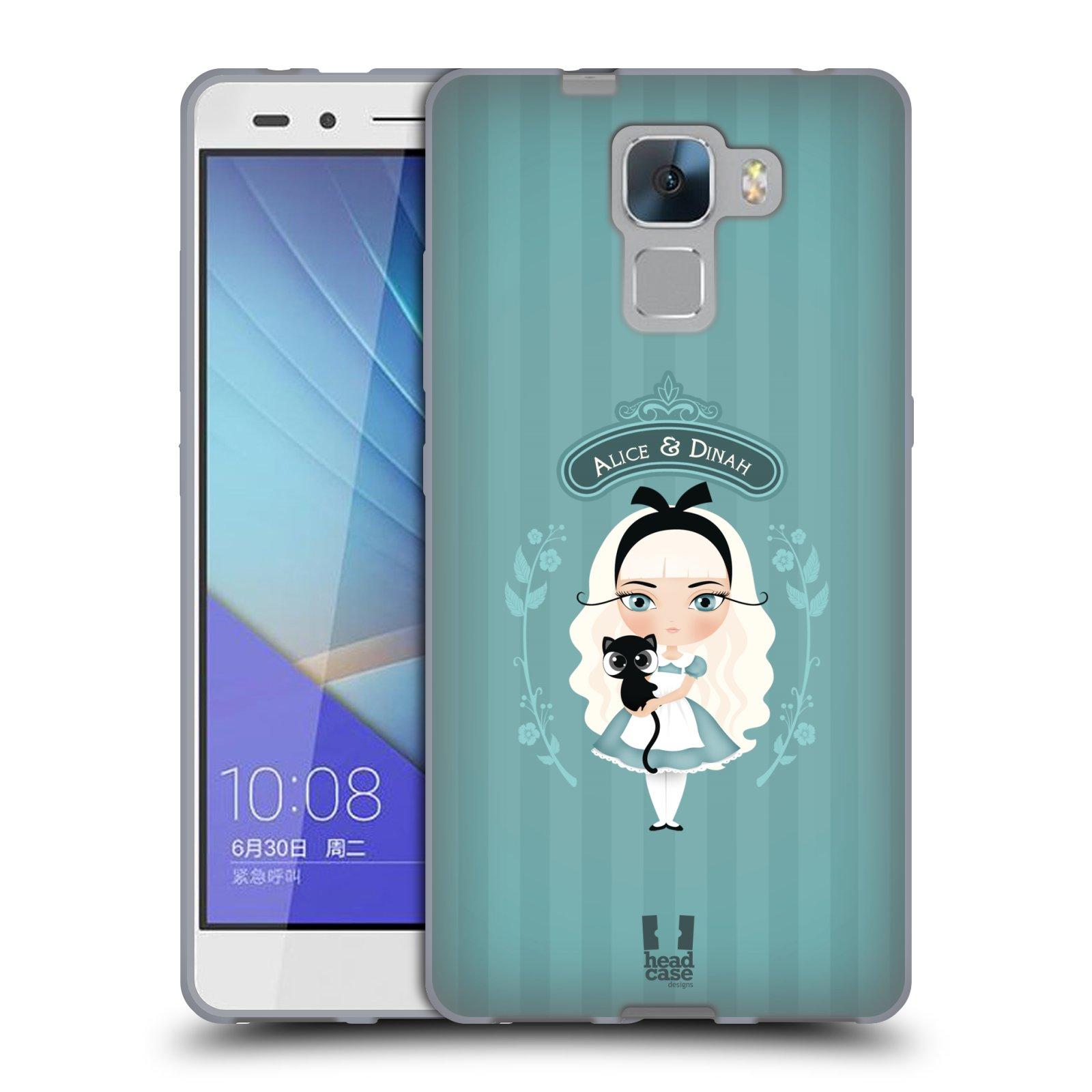 HEAD CASE silikonový obal na mobil HUAWEI HONOR 7 vzor Alenka v říši divů Alenka