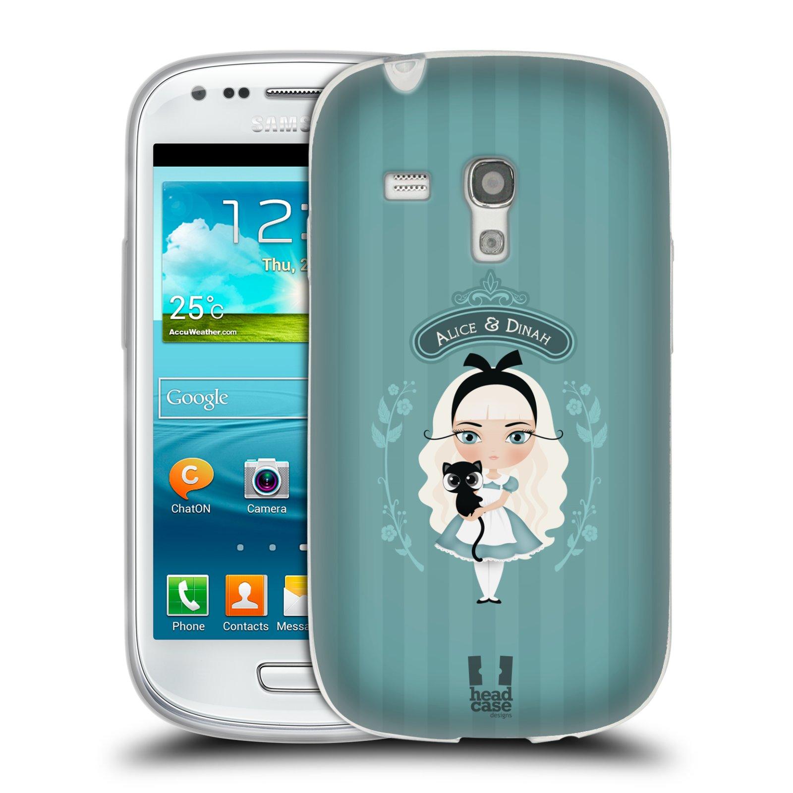 HEAD CASE silikonový obal na mobil Samsung Galaxy S3 MINI i8190 vzor Alenka v říši divů Alenka