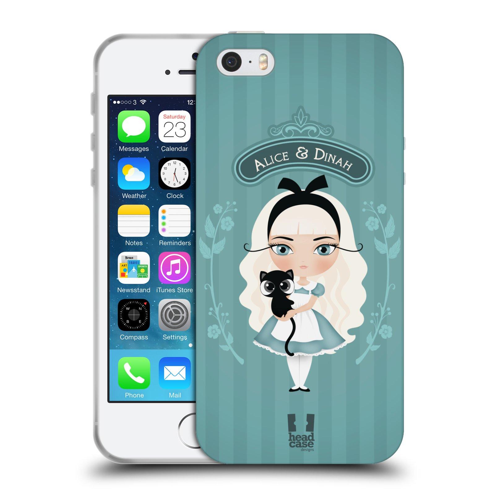 HEAD CASE silikonový obal na mobil Apple Iphone 5/5S vzor Alenka v říši divů Alenka