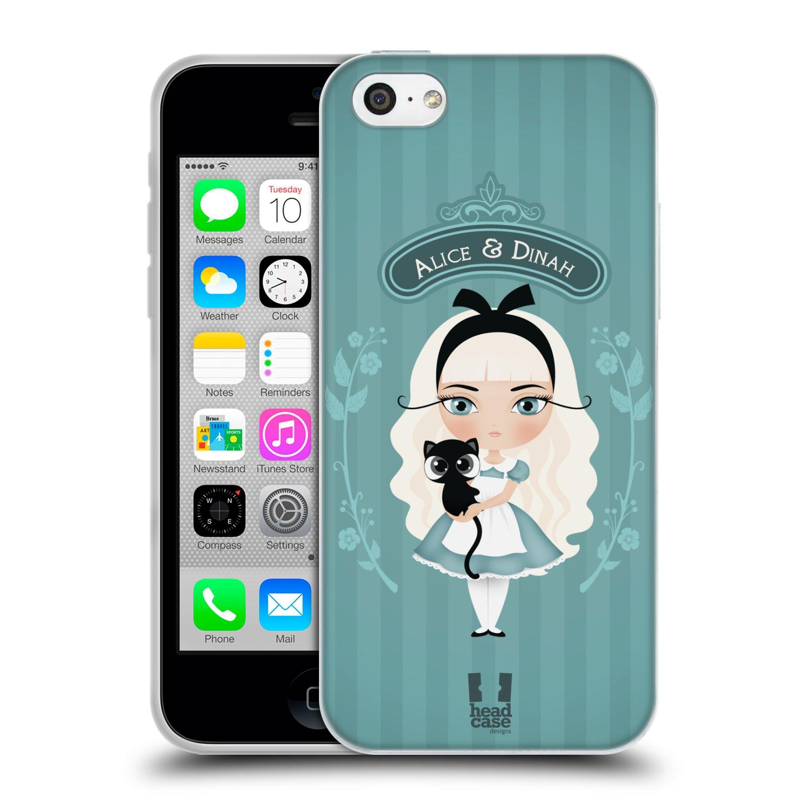 HEAD CASE silikonový obal na mobil Apple Iphone 5C vzor Alenka v říši divů Alenka