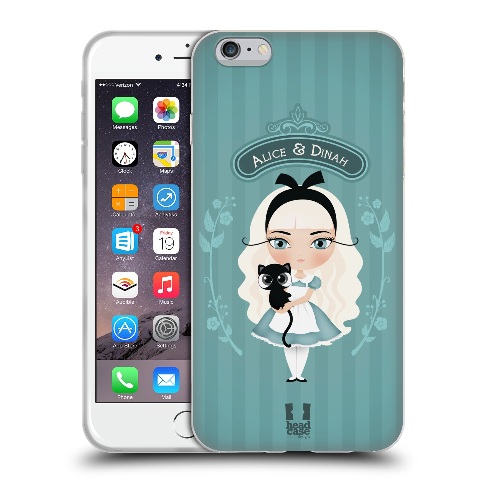 HEAD CASE silikonový obal na mobil Apple Iphone 6 PLUS/ 6S PLUS vzor Alenka v říši divů Alenka