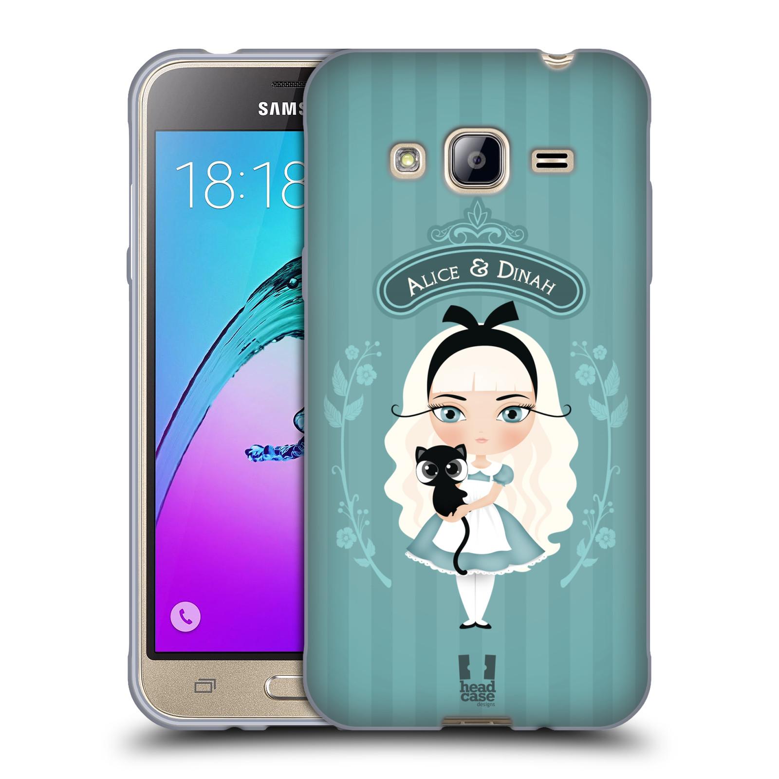 HEAD CASE silikonový obal na mobil Samsung Galaxy J3, J3 2016 vzor Alenka v říši divů Alenka