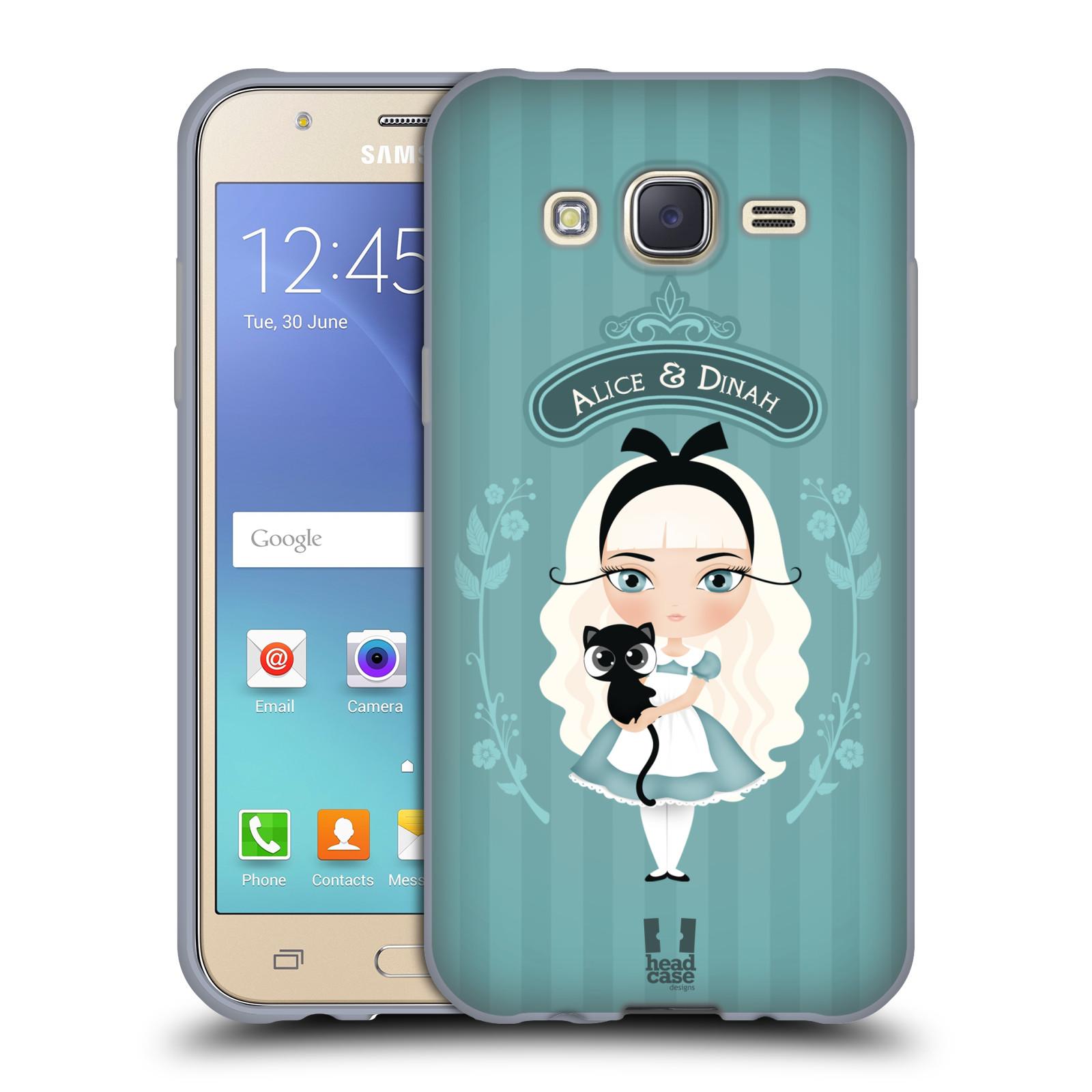 HEAD CASE silikonový obal na mobil Samsung Galaxy J5, J500, (J5 DUOS) vzor Alenka v říši divů Alenka