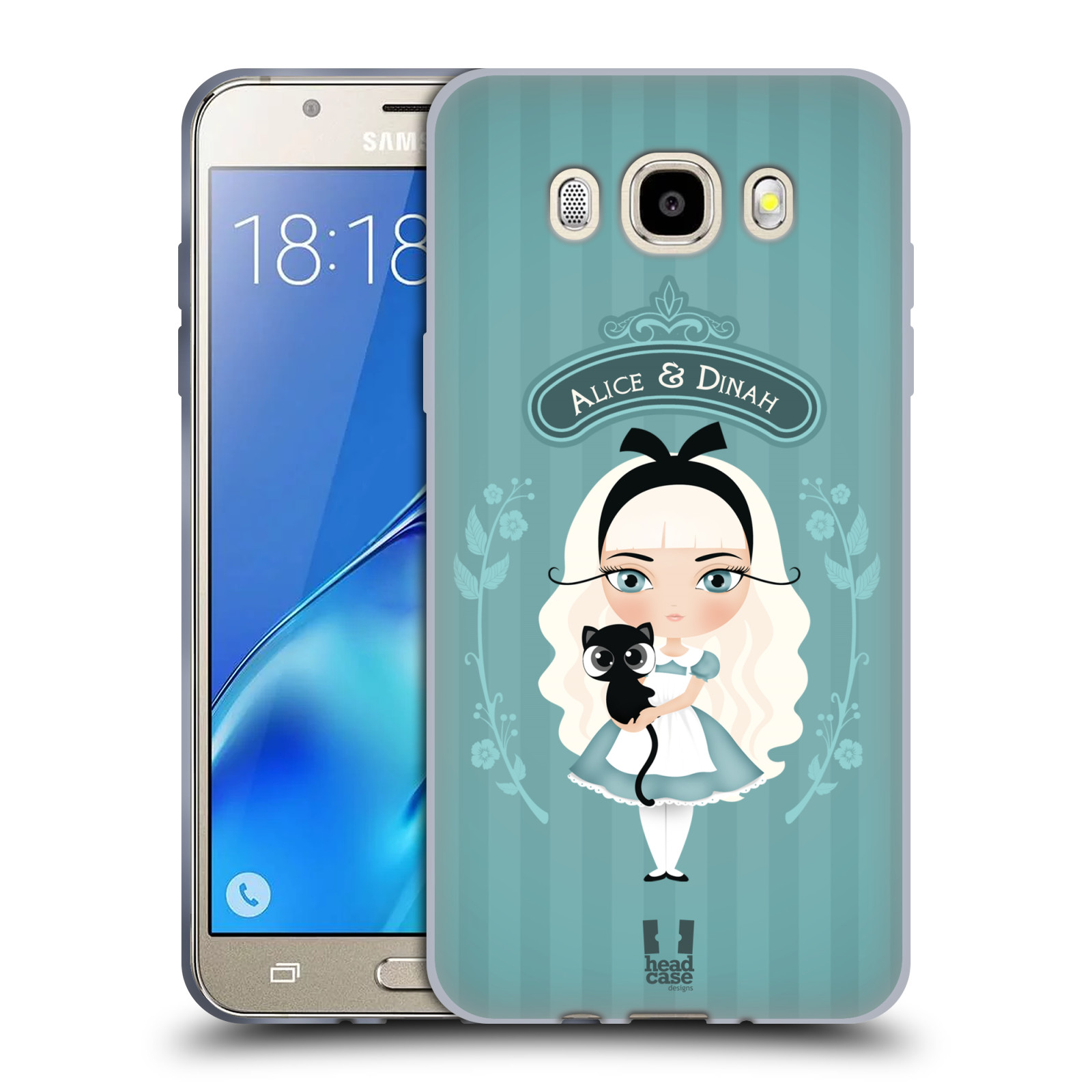 HEAD CASE silikonový obal, kryt na mobil Samsung Galaxy J5 2016, J510, J510F, (J510F DUAL SIM) vzor Alenka v říši divů Alenka