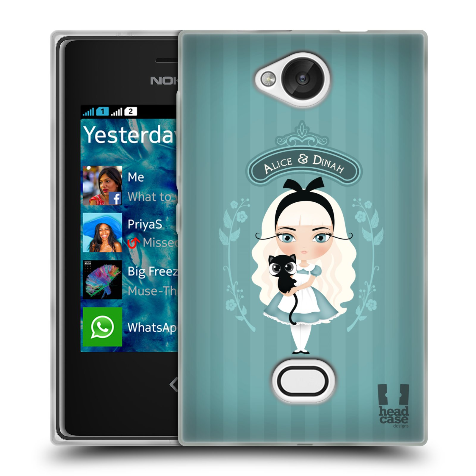HEAD CASE silikonový obal na mobil NOKIA Asha 503 vzor Alenka v říši divů Alenka