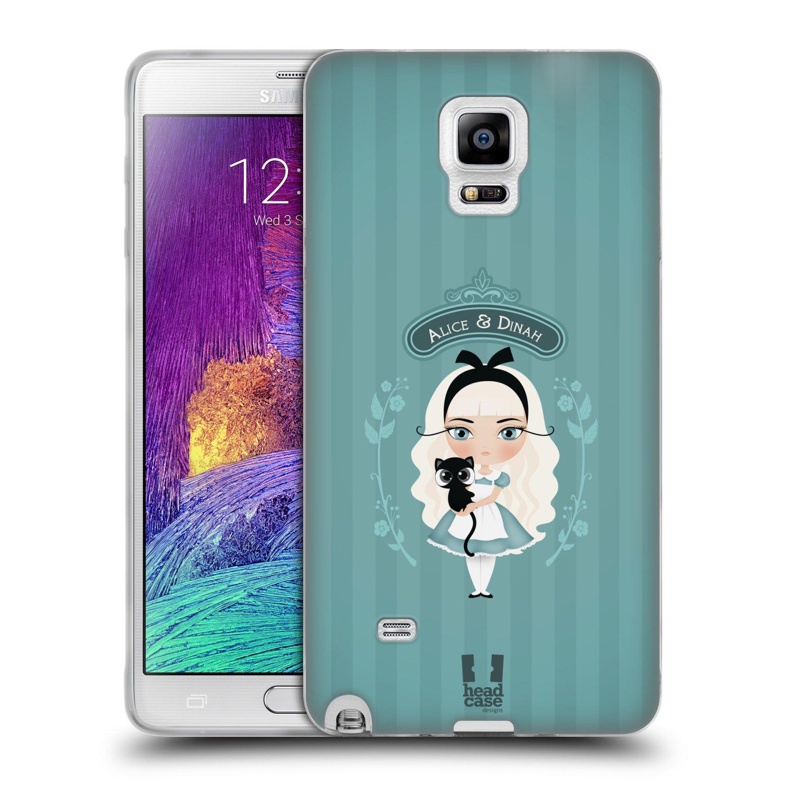 HEAD CASE silikonový obal na mobil Samsung Galaxy Note 4 (N910) vzor Alenka v říši divů Alenka