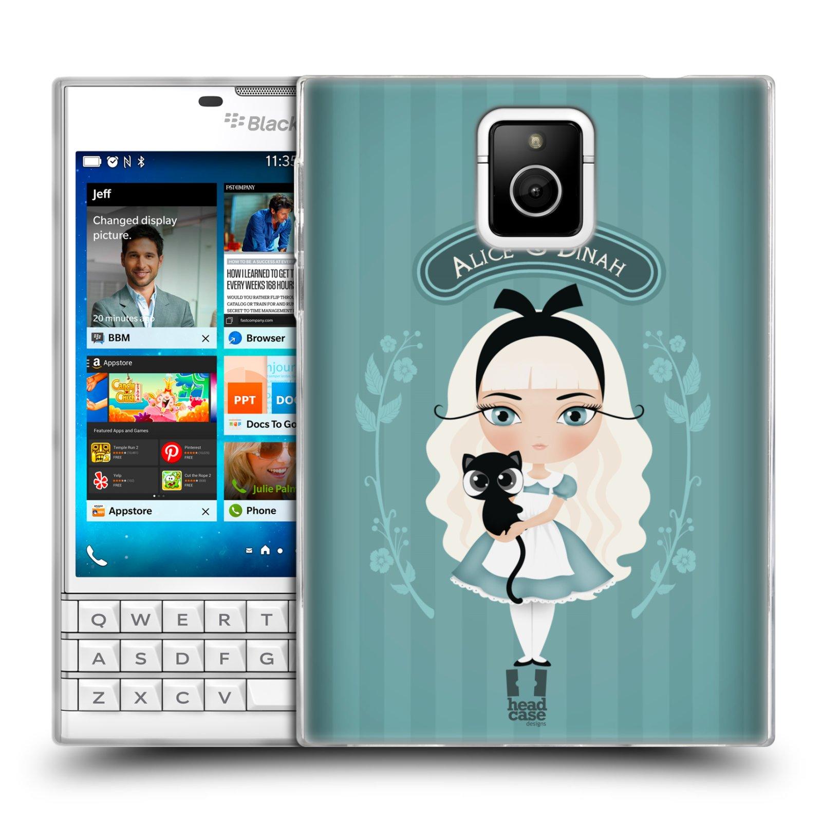 HEAD CASE silikonový obal na mobil Blackberry PASSPORT vzor Alenka v říši divů Alenka