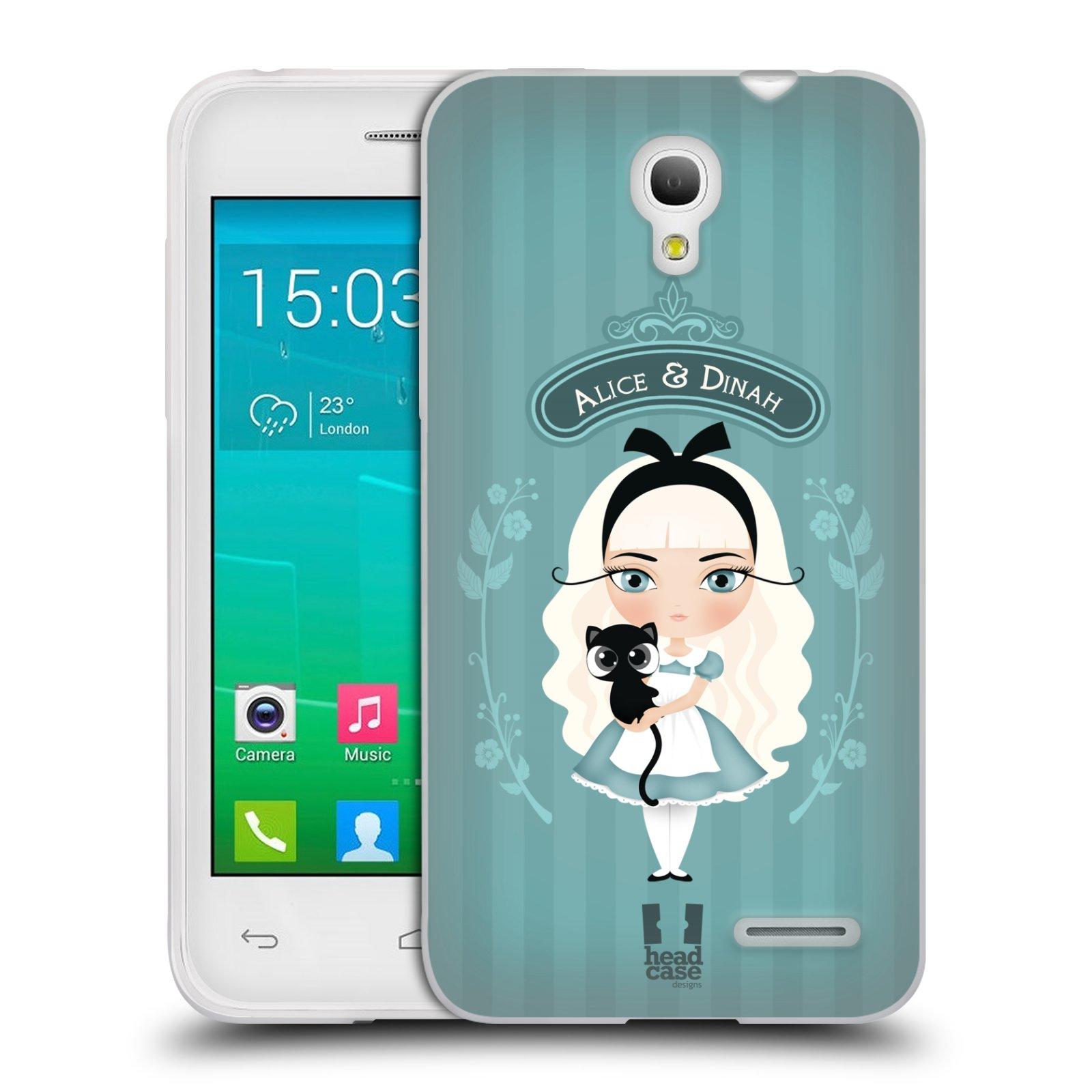 HEAD CASE silikonový obal na mobil Alcatel POP S3 OT-5050Y vzor Alenka v říši divů Alenka