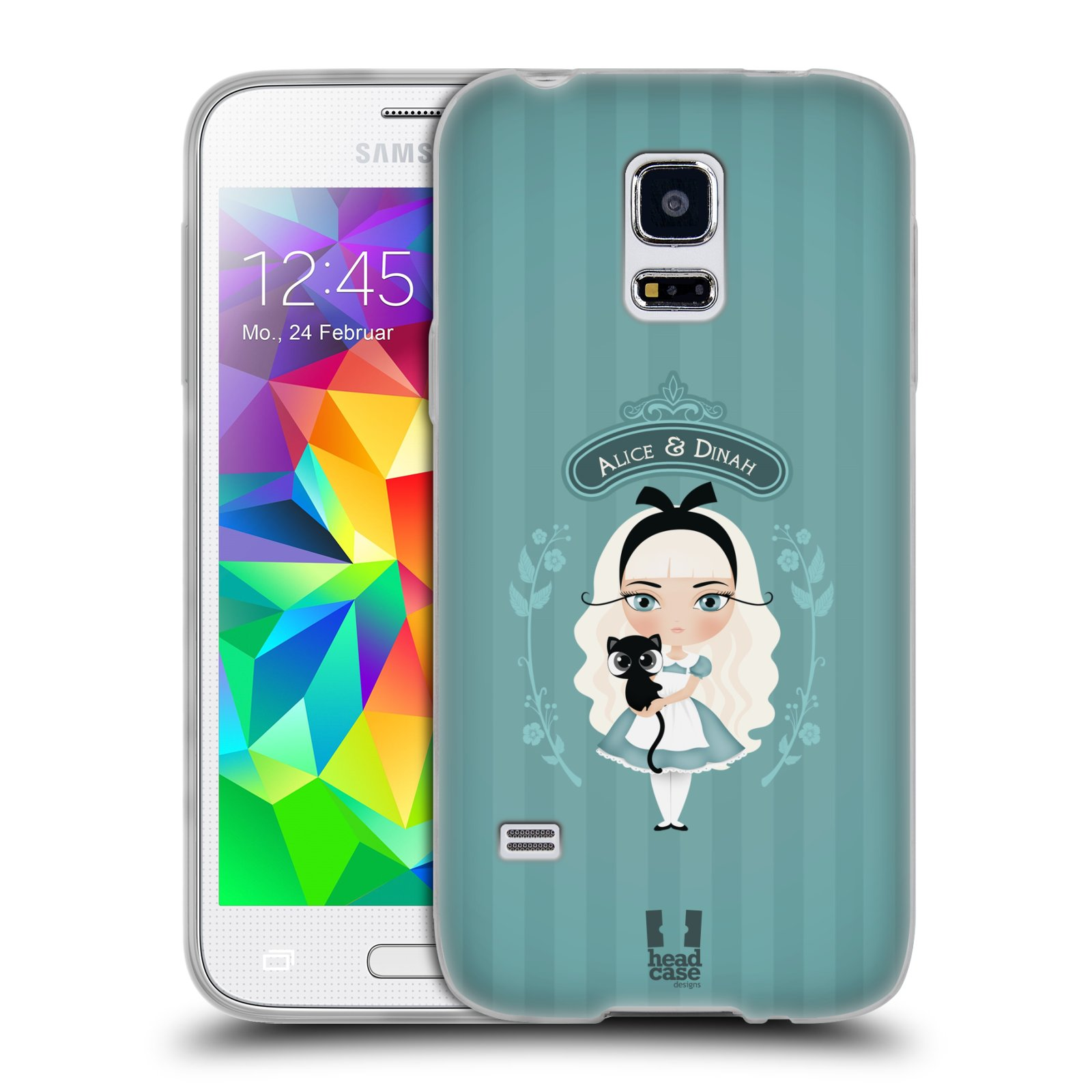 HEAD CASE silikonový obal na mobil Samsung Galaxy S5 MINI vzor Alenka v říši divů Alenka