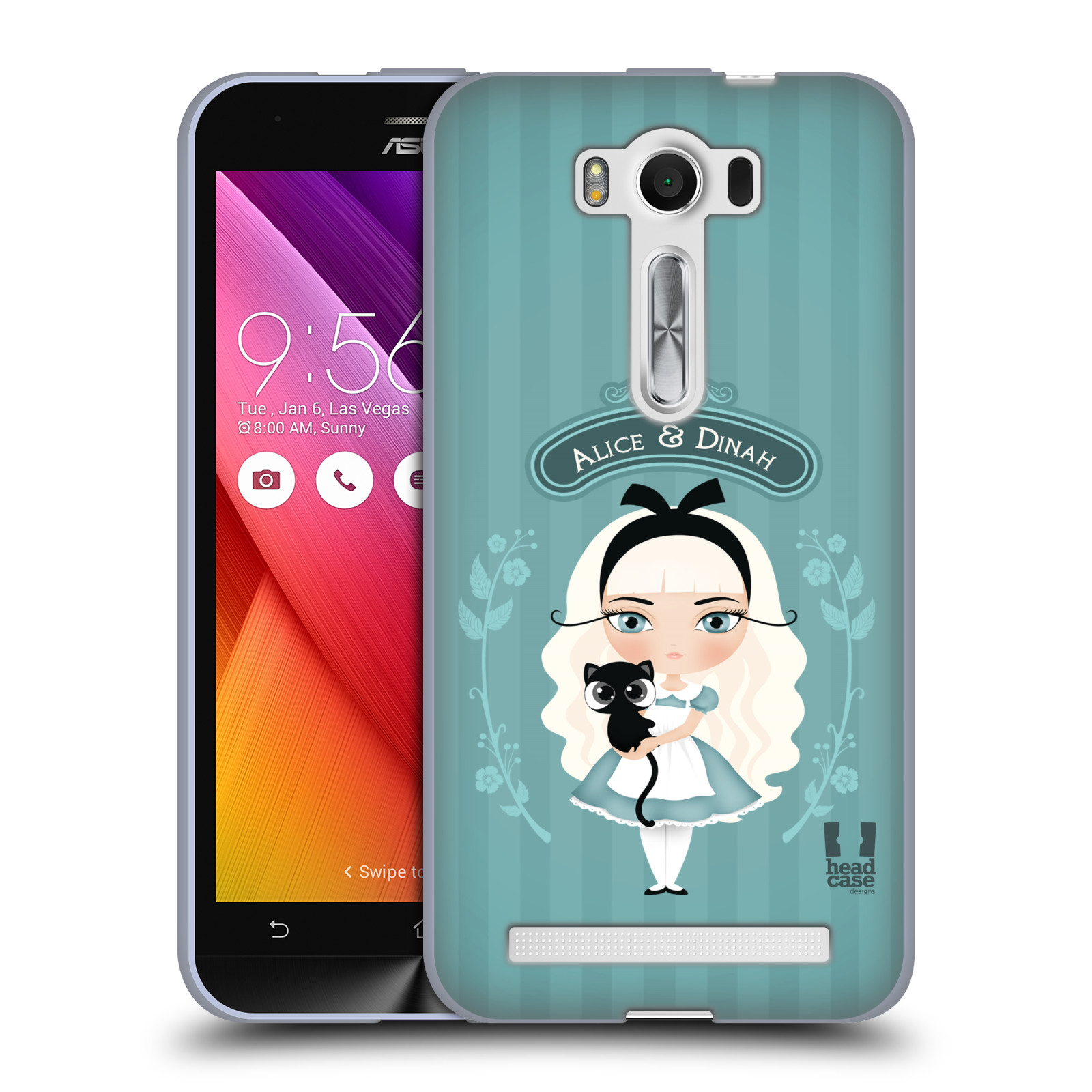 """HEAD CASE silikonový obal na mobil Asus Zenfone 2 LASER (ZE500KL s 5"""" displejem) vzor Alenka v říši divů Alenka"""