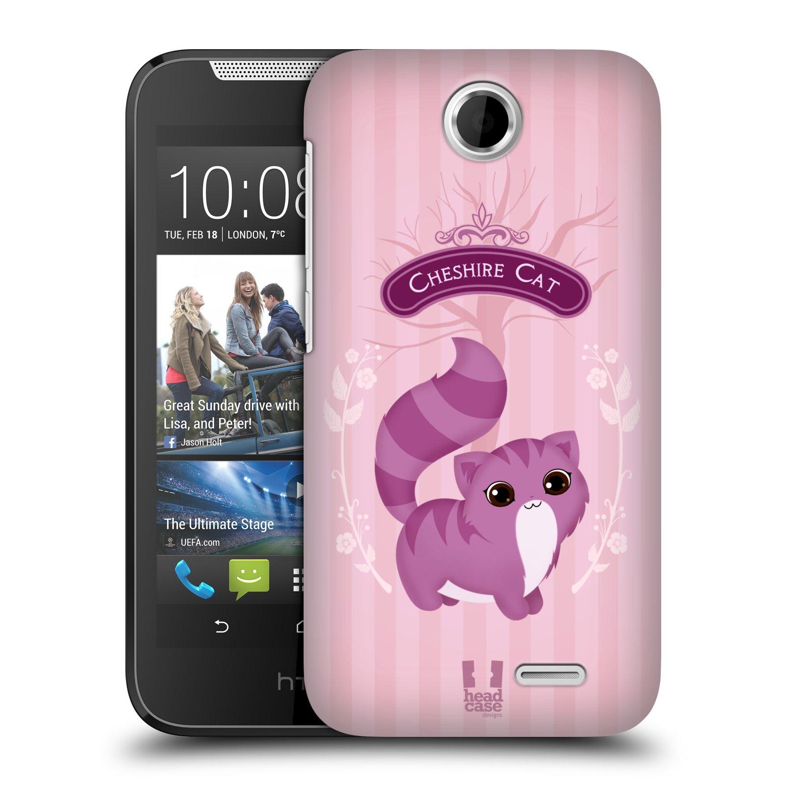 HEAD CASE plastový obal na mobil HTC Desire 310 vzor Alenka v říši divů kočička