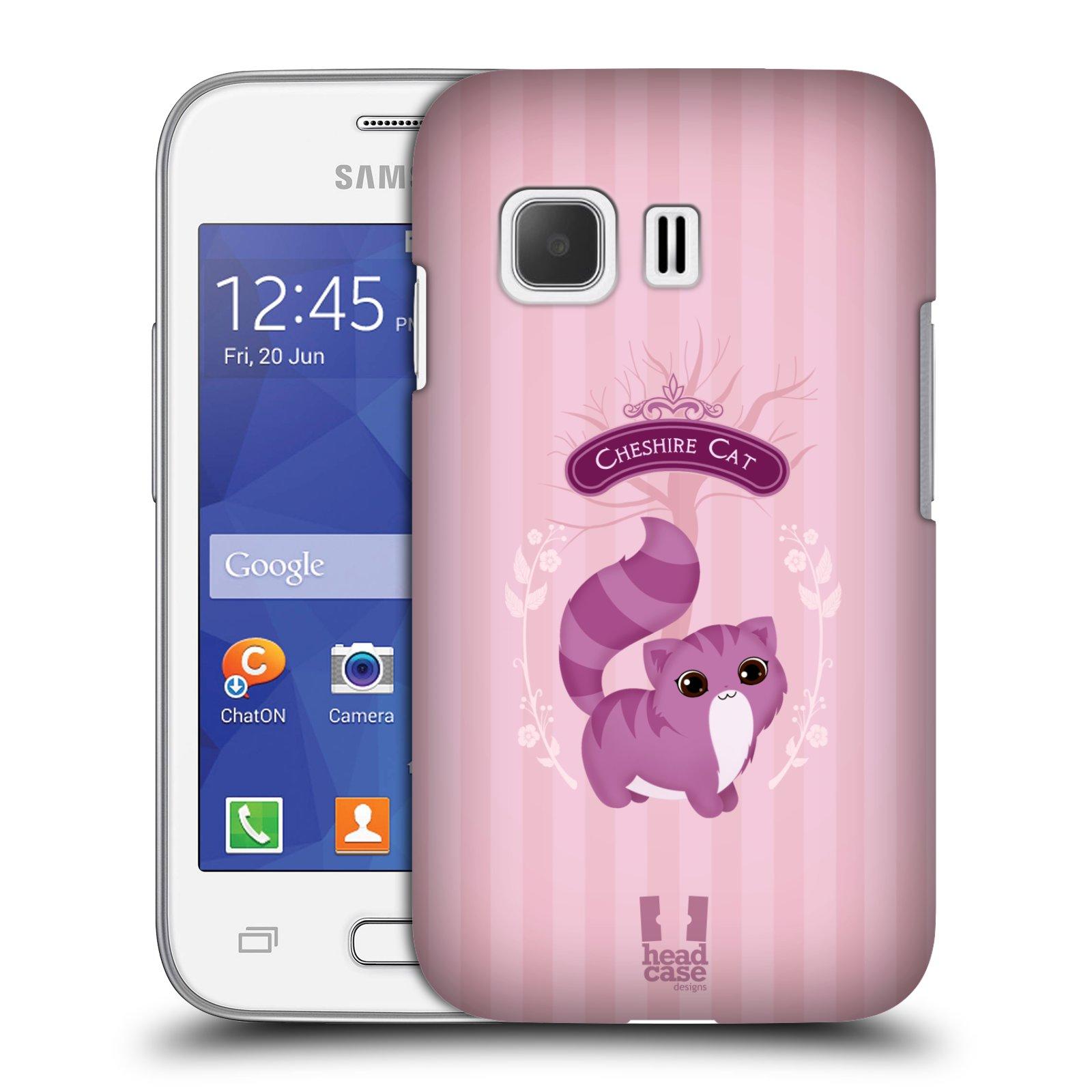 HEAD CASE plastový obal na mobil SAMSUNG Galaxy Young 2 (G130) vzor Alenka v říši divů kočička