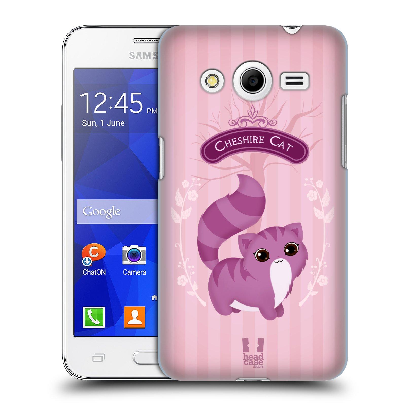 HEAD CASE plastový obal na mobil SAMSUNG GALAXY Core 2 (G355H) vzor Alenka v říši divů kočička