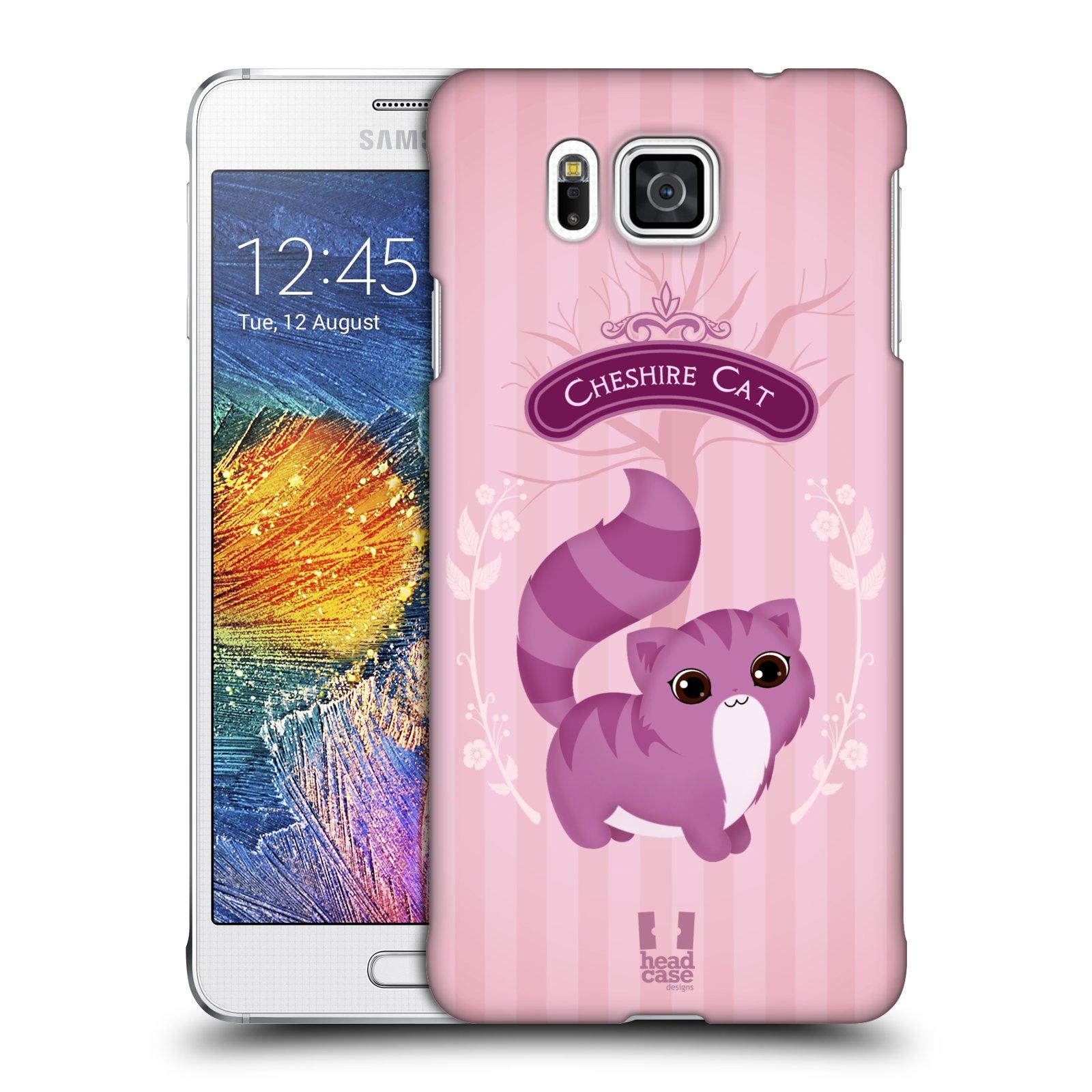 HEAD CASE plastový obal na mobil SAMSUNG Galaxy Alpha (G850) vzor Alenka v říši divů kočička