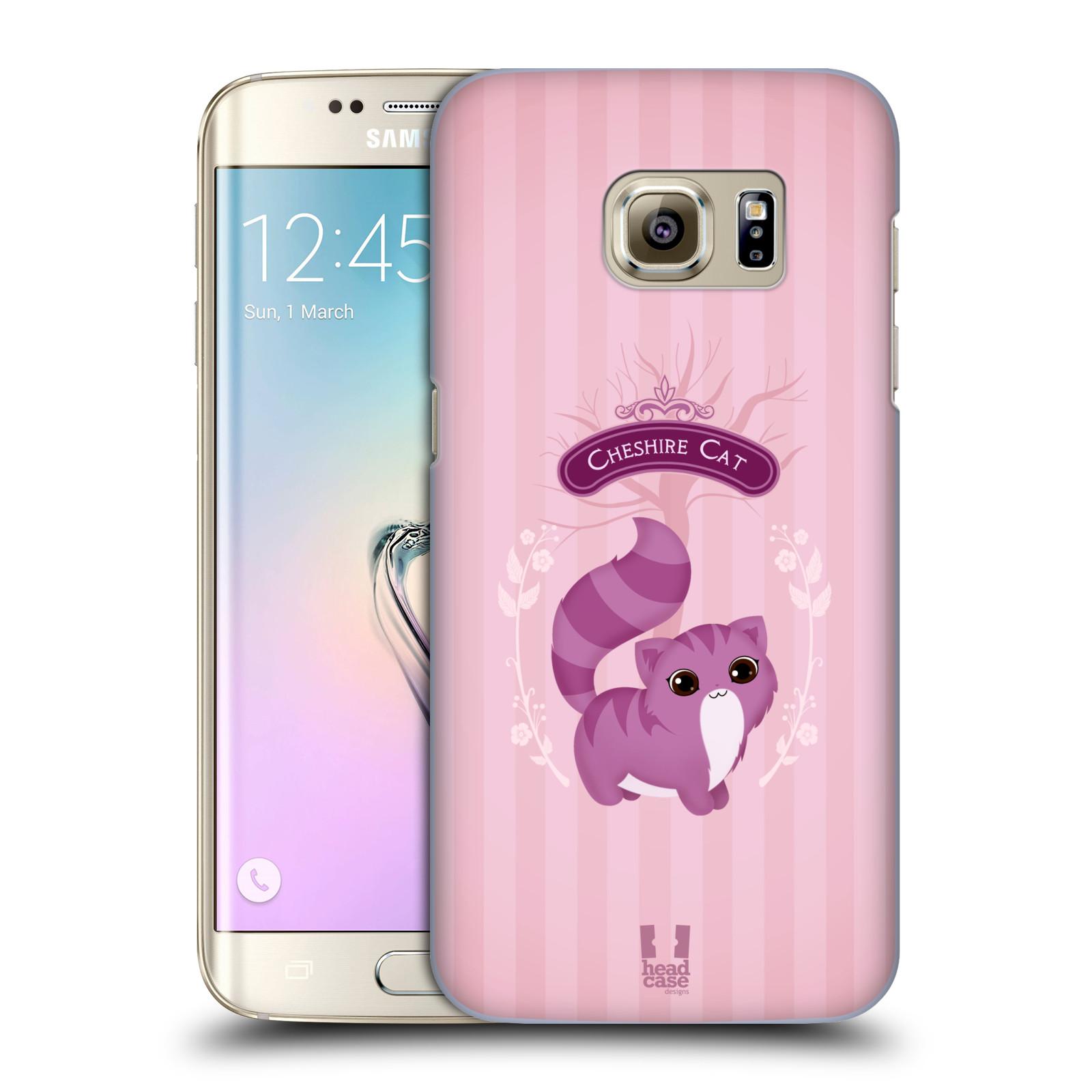 HEAD CASE plastový obal na mobil SAMSUNG GALAXY S7 EDGE vzor Alenka v říši divů kočička