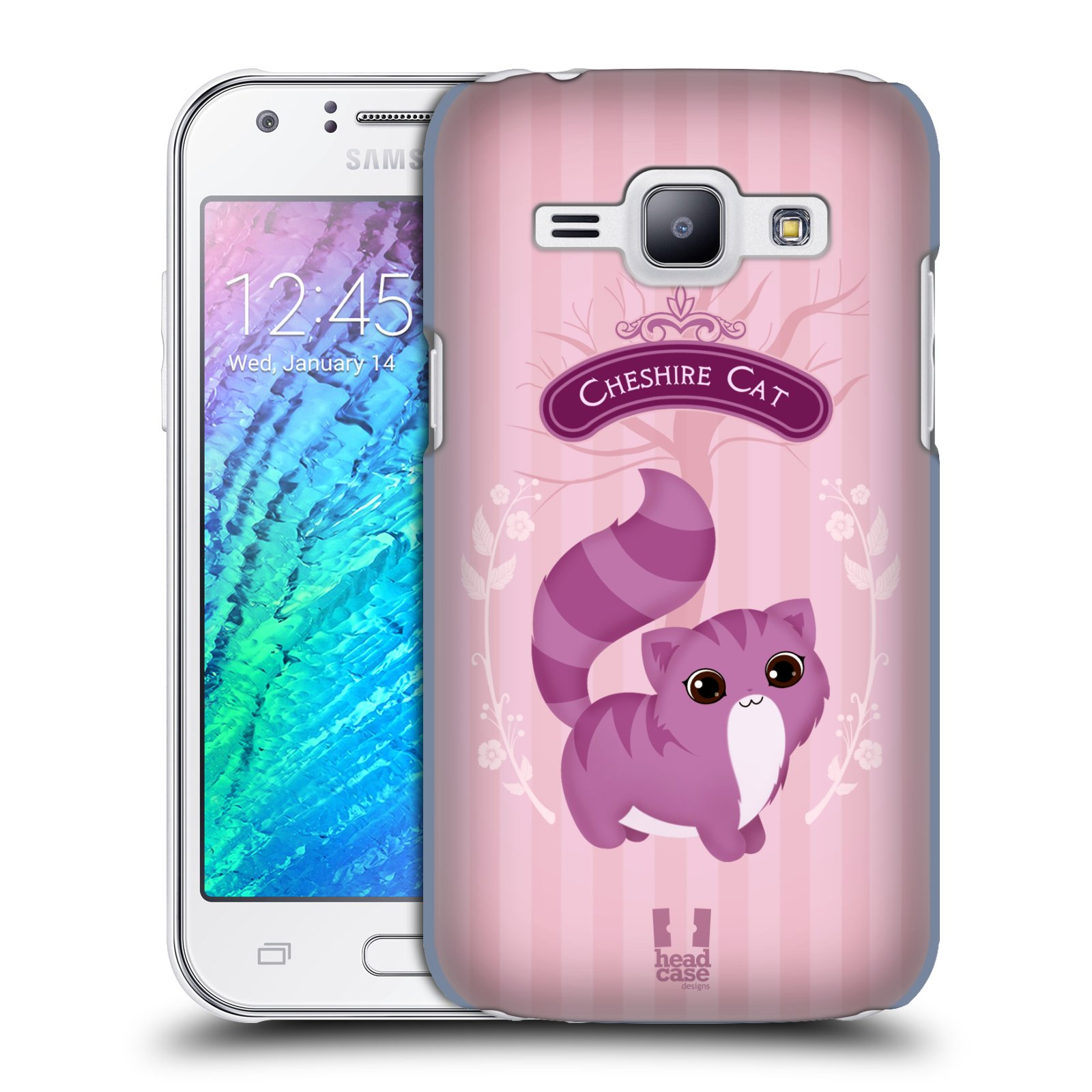 HEAD CASE plastový obal na mobil SAMSUNG Galaxy J1, J100 vzor Alenka v říši divů kočička