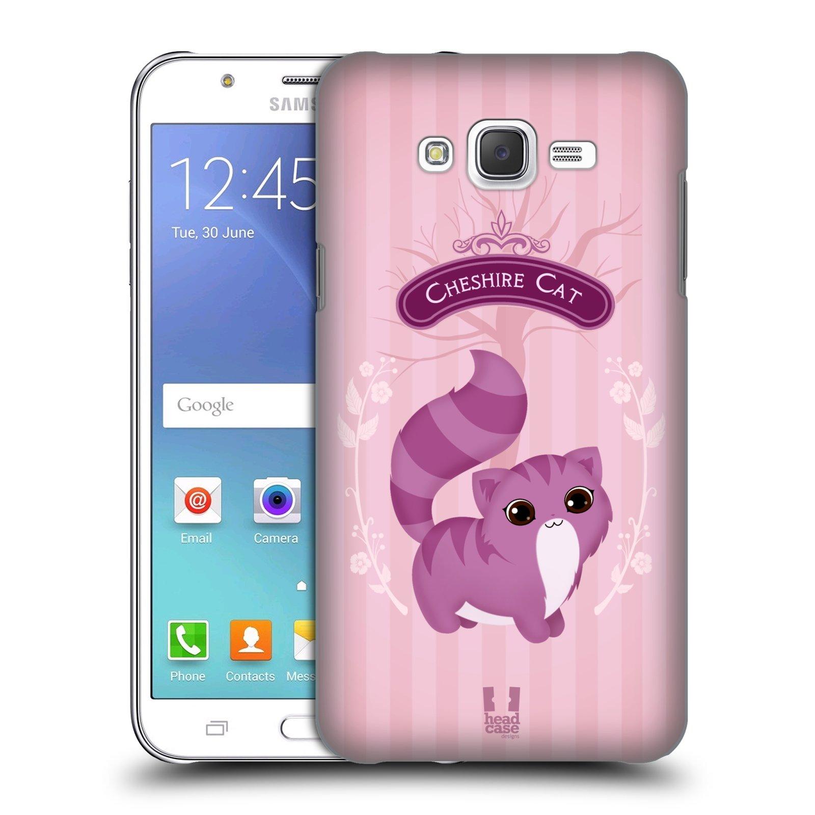 HEAD CASE plastový obal na mobil SAMSUNG Galaxy J7, J700 vzor Alenka v říši divů kočička