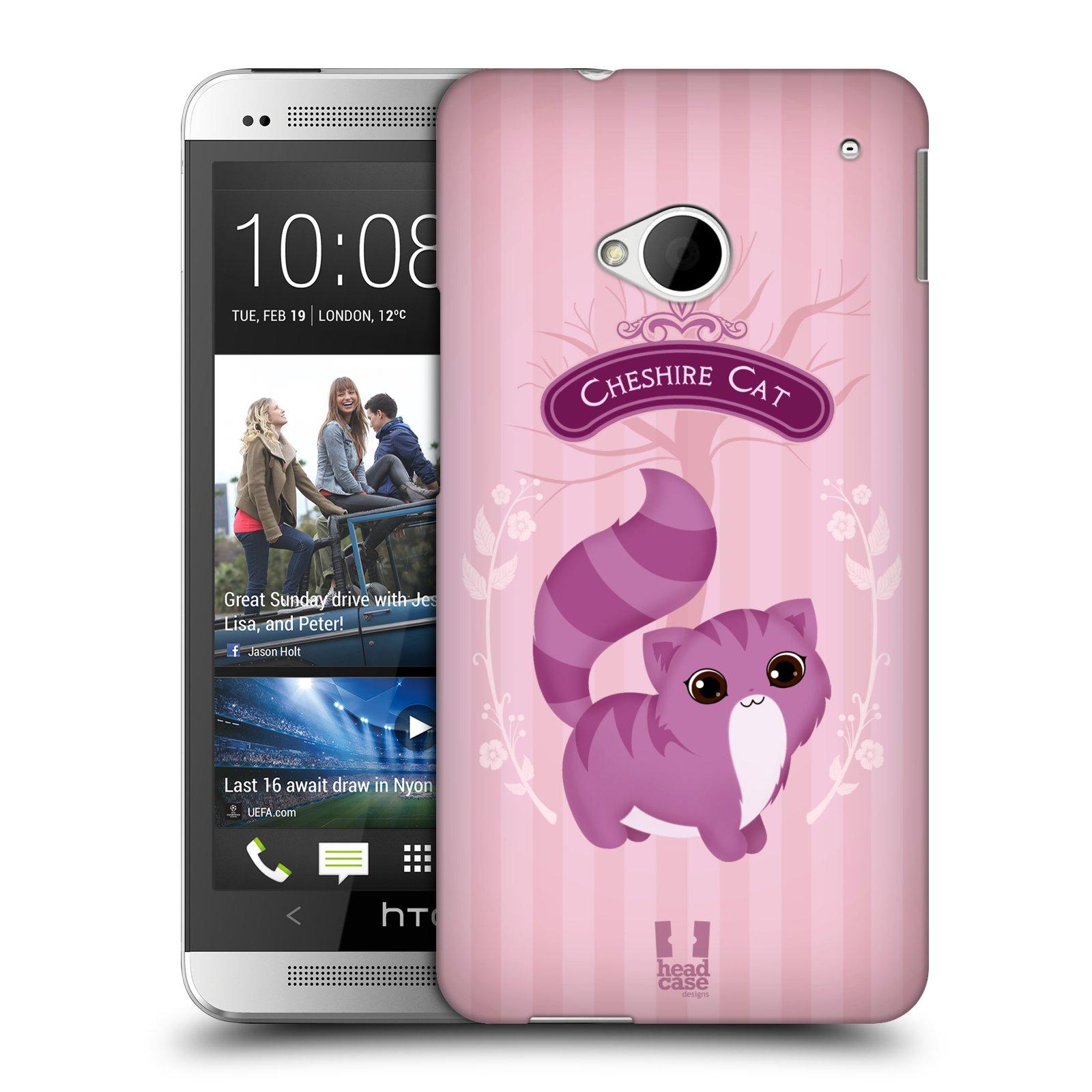HEAD CASE plastový obal na mobil HTC One (M7) vzor Alenka v říši divů kočička
