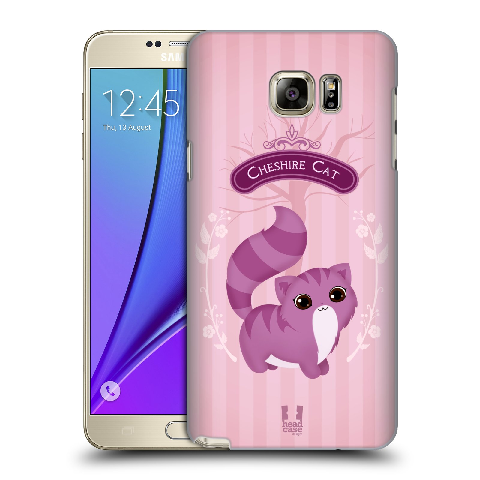 HEAD CASE plastový obal na mobil SAMSUNG Galaxy Note 5 (N920) vzor Alenka v říši divů kočička