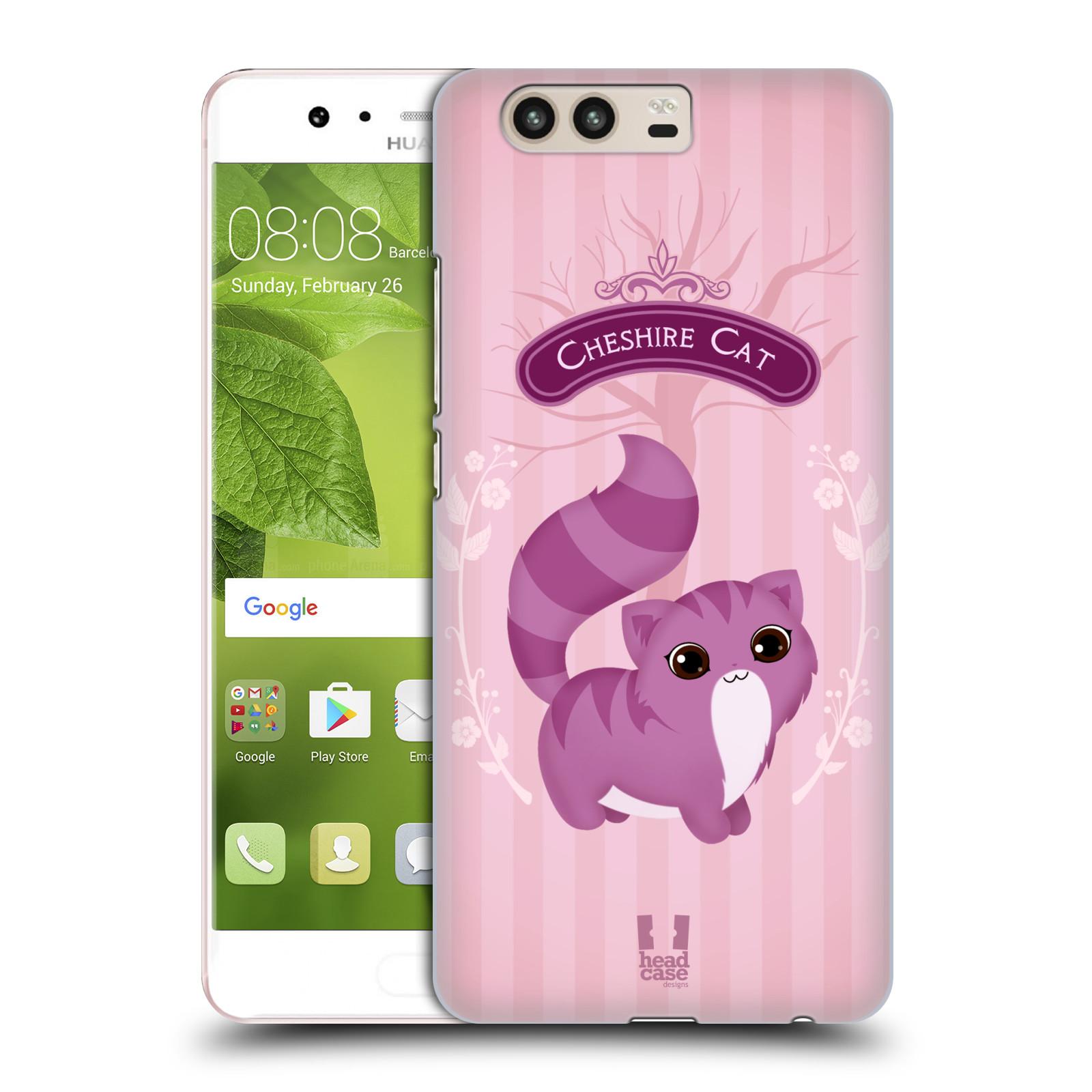 HEAD CASE silikonový obal na mobil Huawei P10 vzor Alenka v říši divů kočička