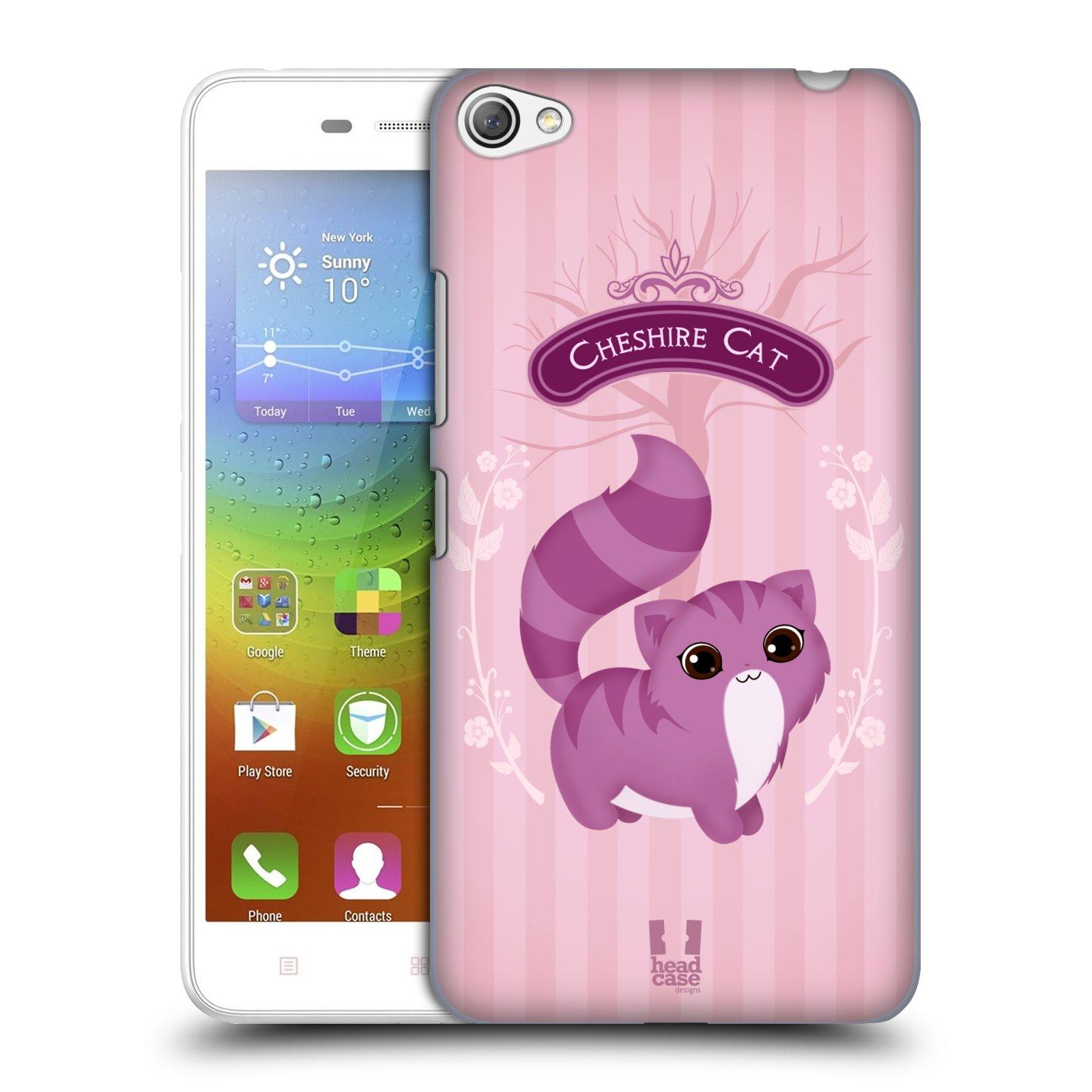 HEAD CASE pevný plastový obal na mobil LENOVO S60 / LENOVO S60 DUAL SIM vzor Alenka v říši divů kočička