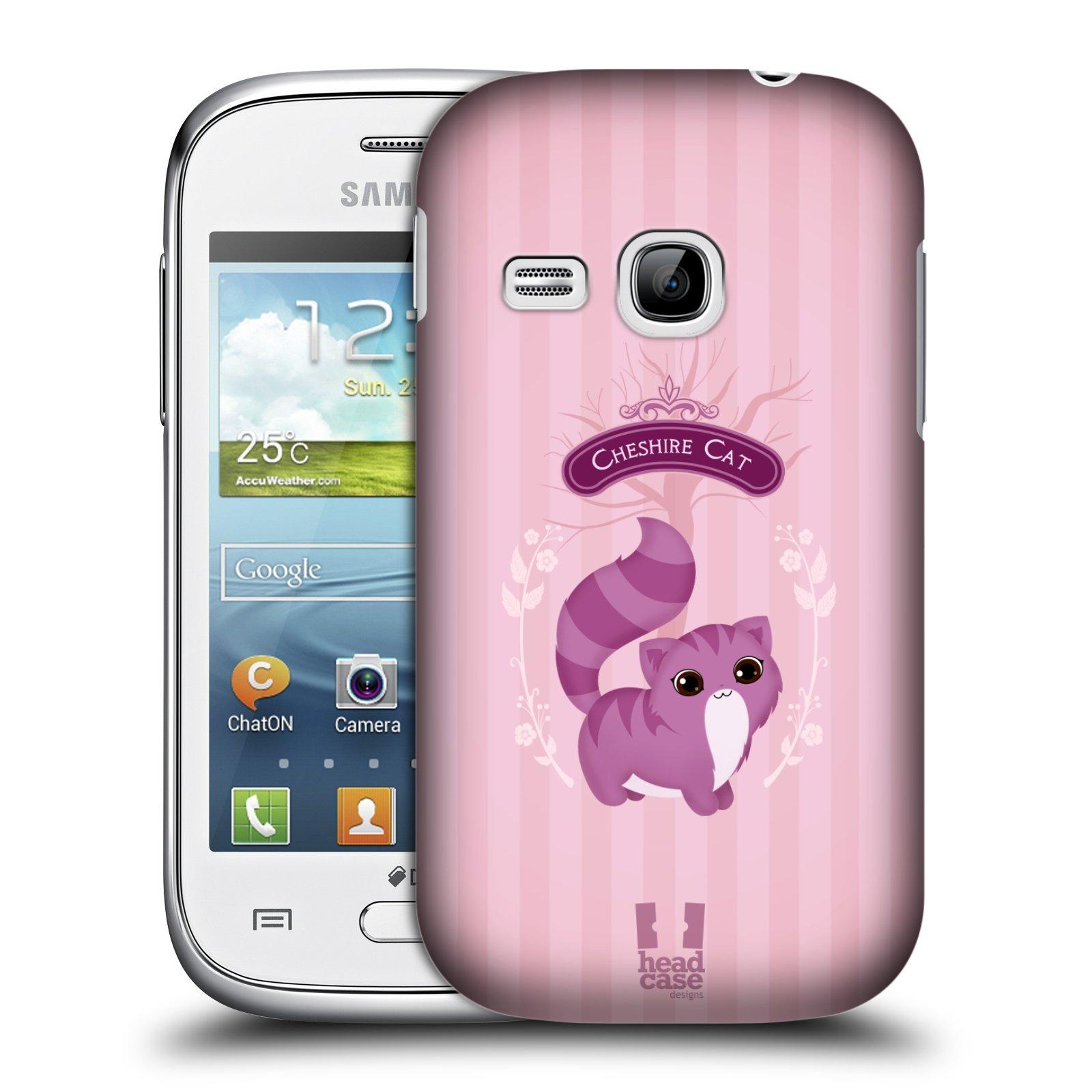 HEAD CASE plastový obal na mobil SAMSUNG Galaxy Young S6310 vzor Alenka v říši divů kočička