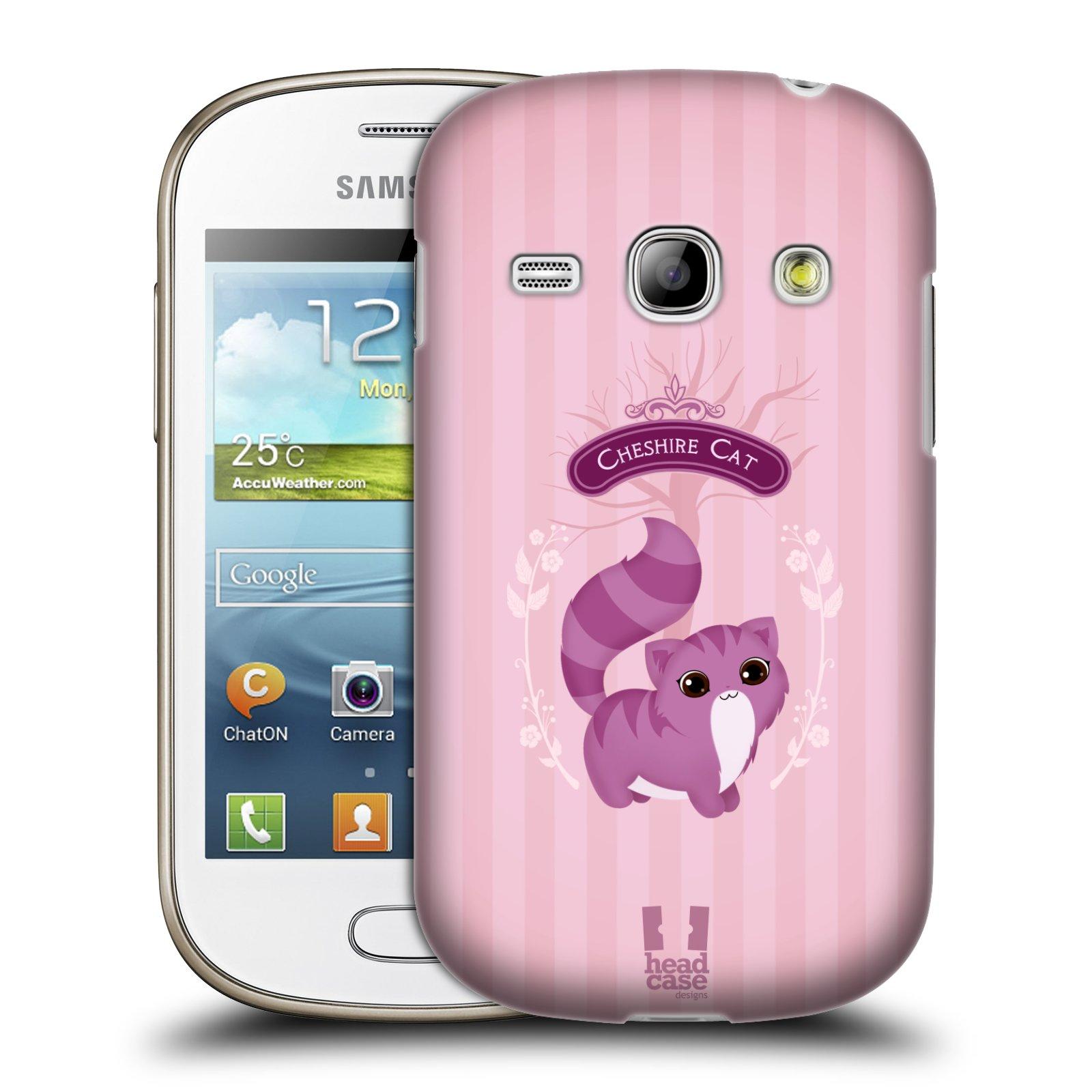 HEAD CASE plastový obal na mobil SAMSUNG GALAXY FAME (S6810) vzor Alenka v říši divů kočička