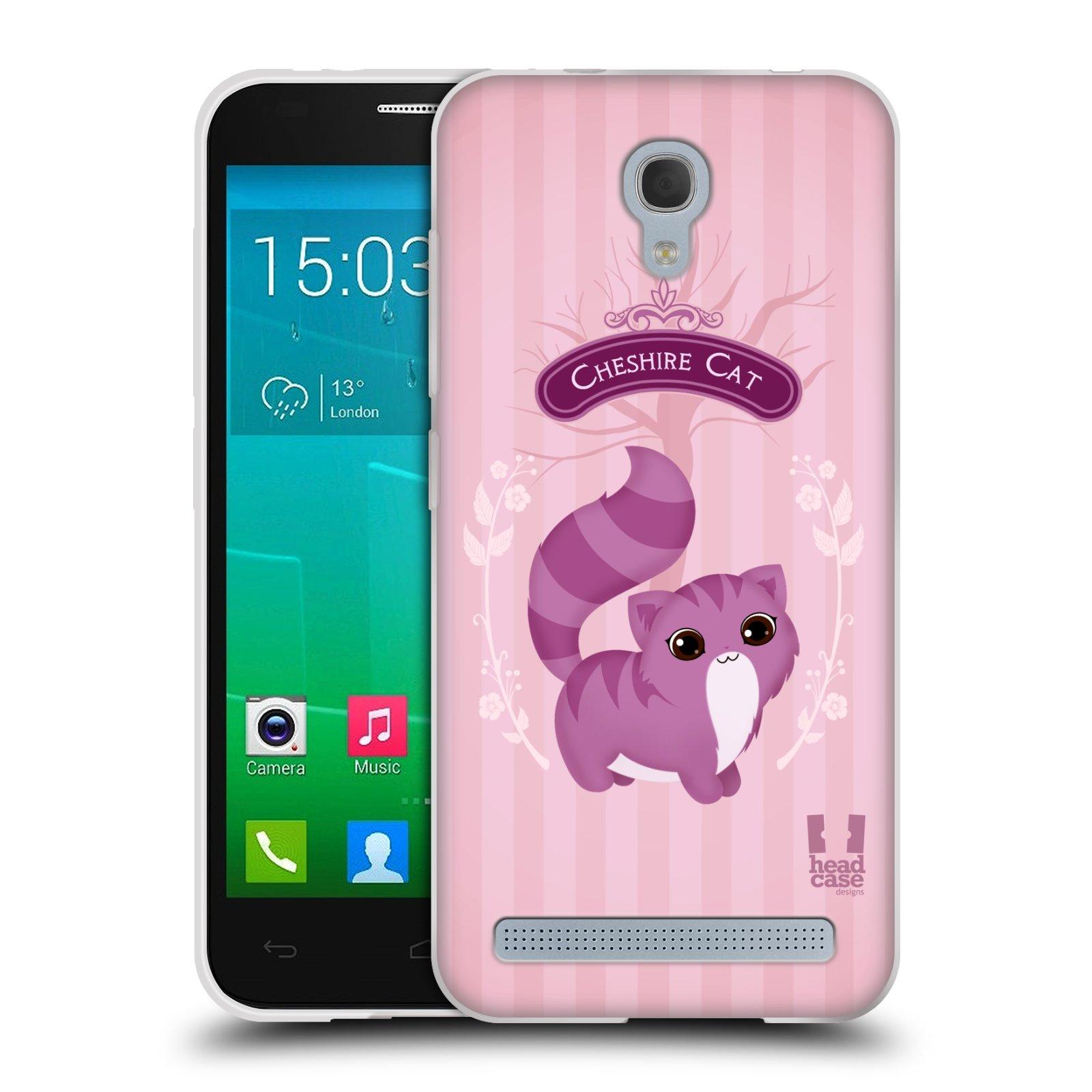 HEAD CASE silikonový obal na mobil Alcatel Idol 2 MINI S 6036Y vzor Alenka v říši divů kočička