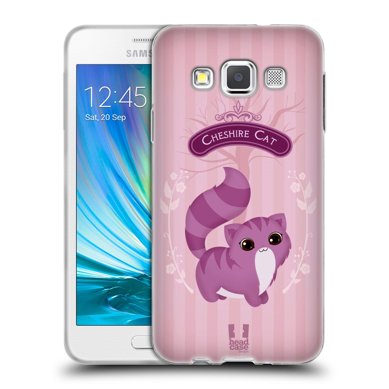 HEAD CASE silikonový obal na mobil Samsung Galaxy A3 vzor Alenka v říši divů kočička