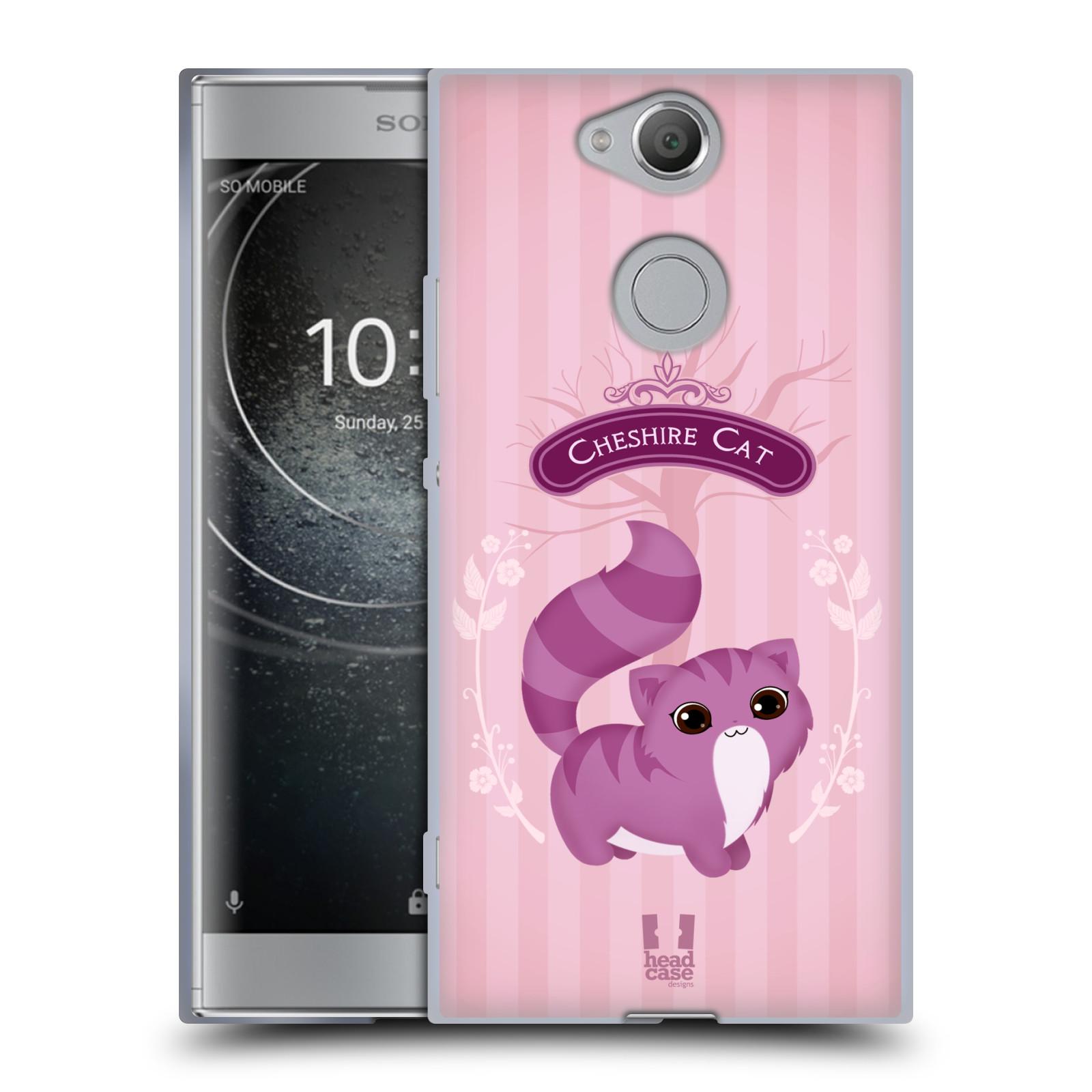 Pouzdro na mobil Sony Xperia XA2 (DUAL SIM, SINGLE SIM) vzor Alenka v říši divů kočička