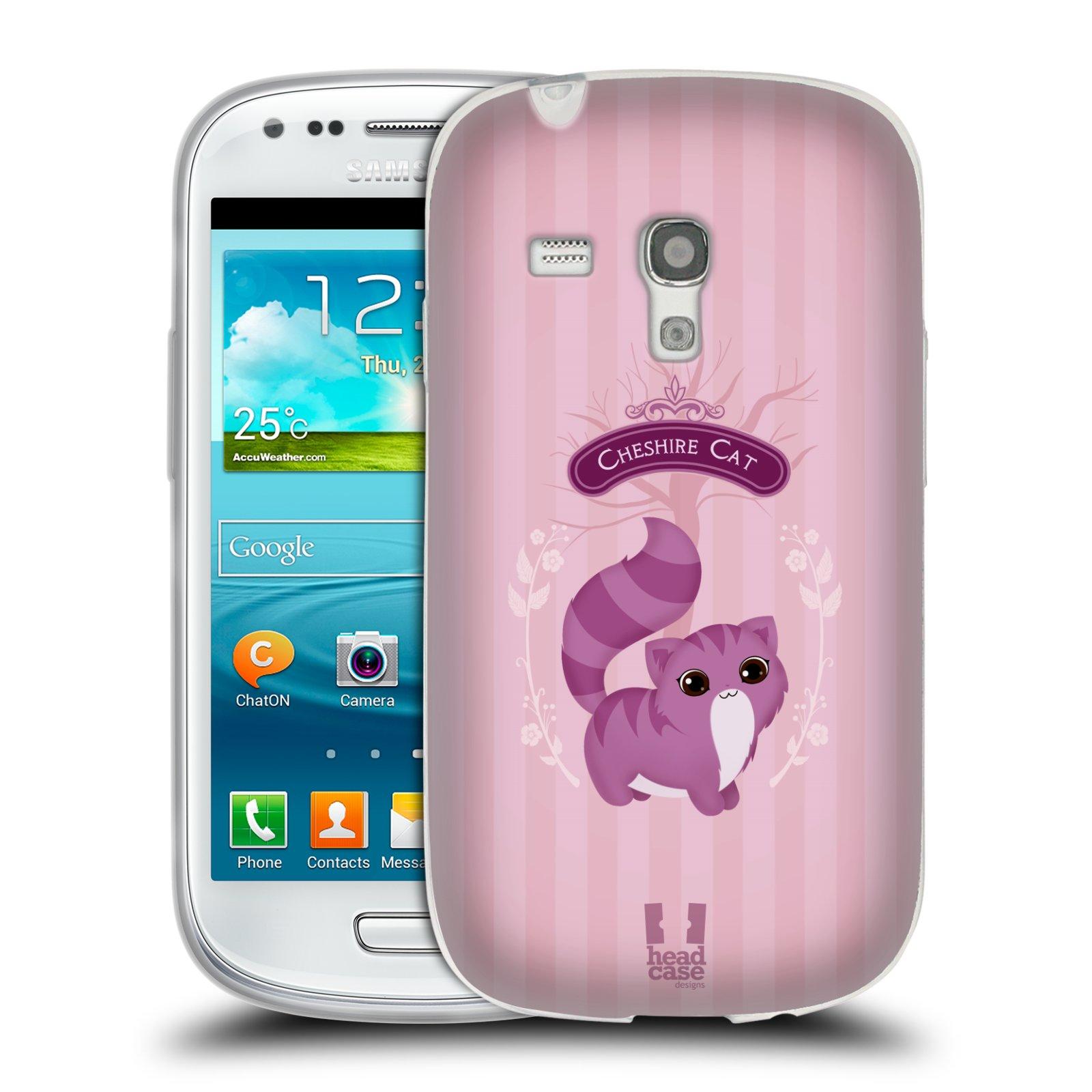 HEAD CASE silikonový obal na mobil Samsung Galaxy S3 MINI i8190 vzor Alenka v říši divů kočička