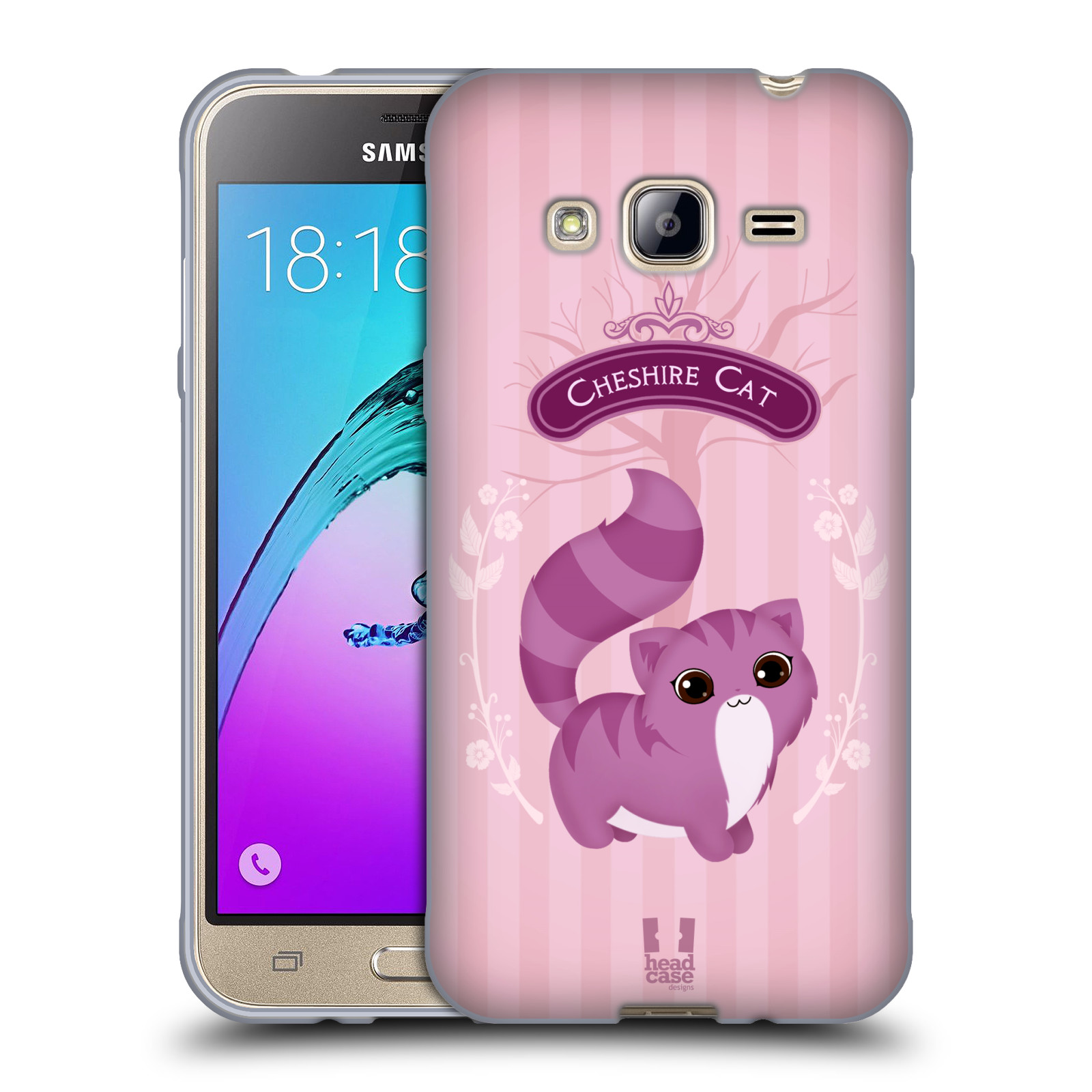 HEAD CASE silikonový obal na mobil Samsung Galaxy J3, J3 2016 vzor Alenka v říši divů kočička