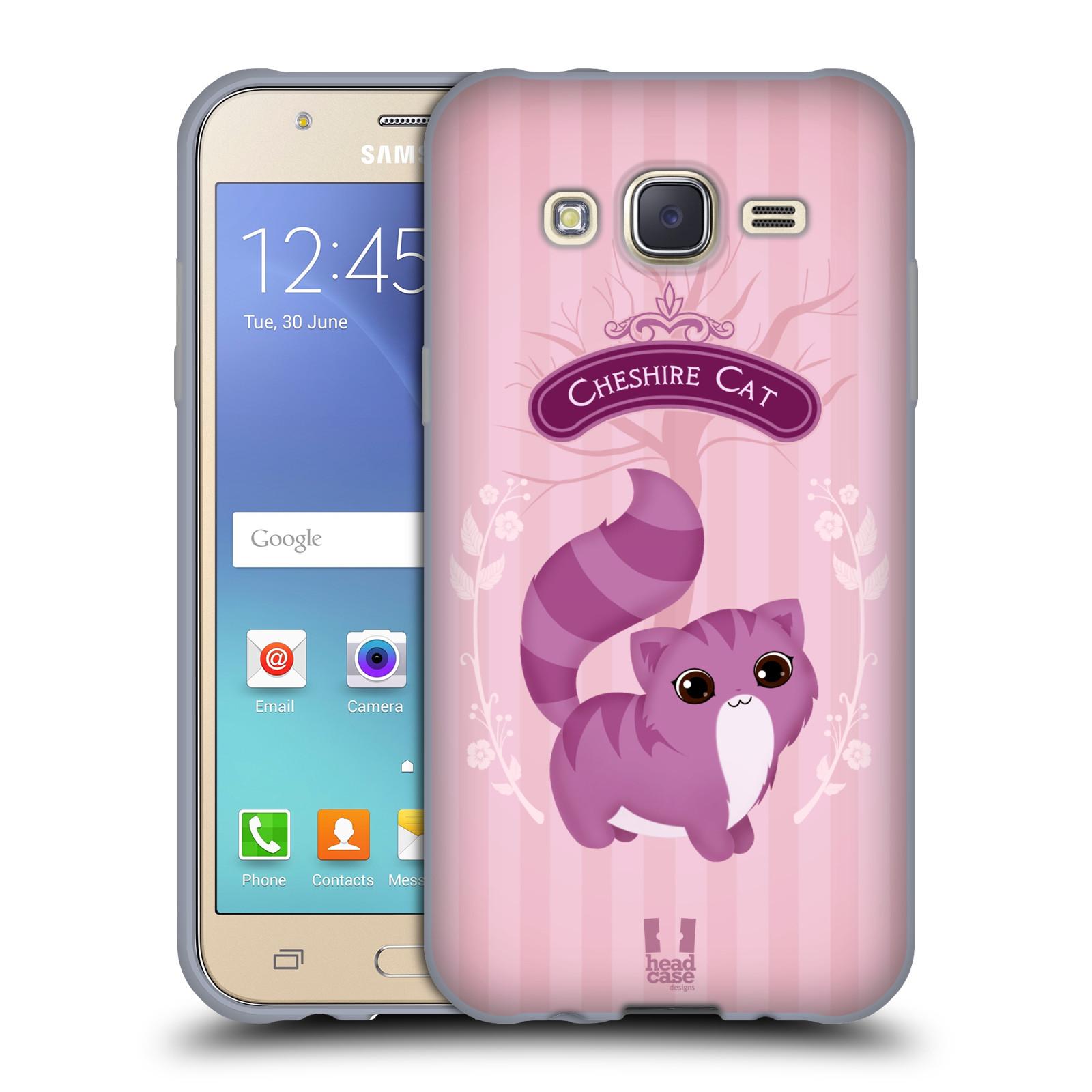 HEAD CASE silikonový obal na mobil Samsung Galaxy J5, J500, (J5 DUOS) vzor Alenka v říši divů kočička