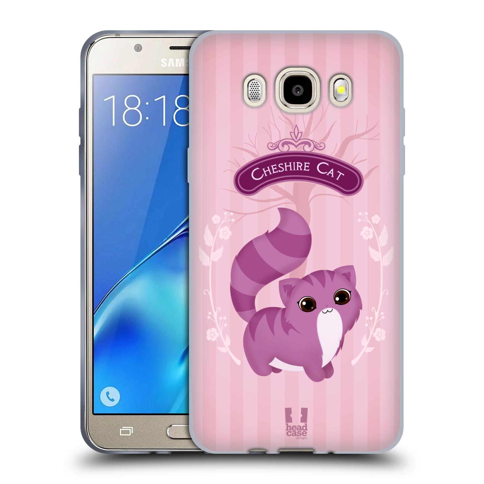 HEAD CASE silikonový obal, kryt na mobil Samsung Galaxy J5 2016, J510, J510F, (J510F DUAL SIM) vzor Alenka v říši divů kočička