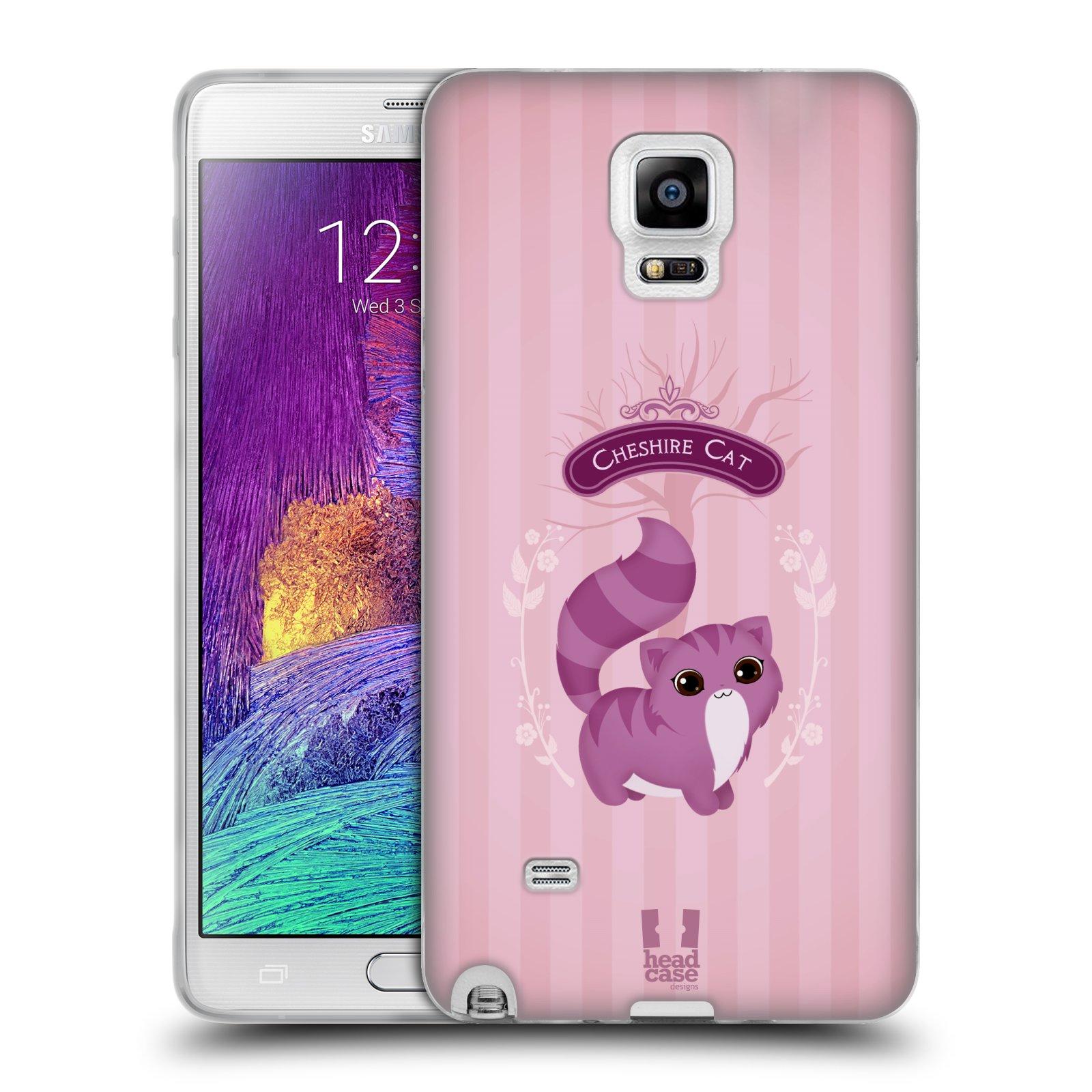 HEAD CASE silikonový obal na mobil Samsung Galaxy Note 4 (N910) vzor Alenka v říši divů kočička