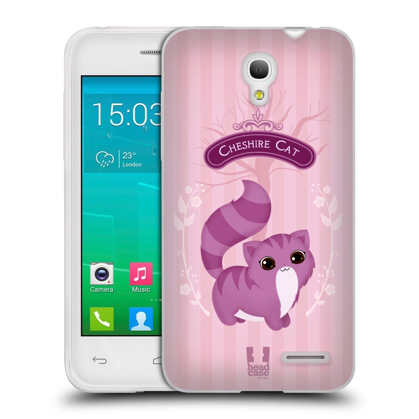 HEAD CASE silikonový obal na mobil Alcatel POP S3 OT-5050Y vzor Alenka v říši divů kočička