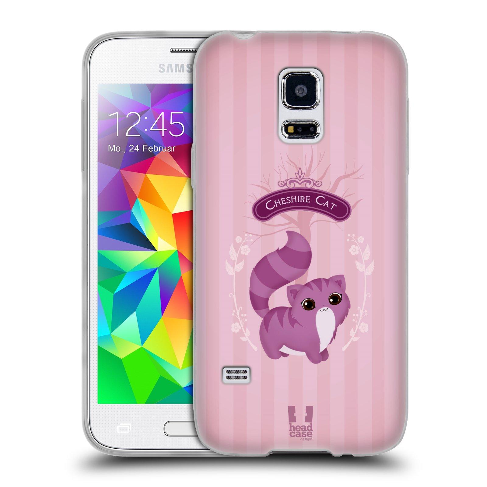 HEAD CASE silikonový obal na mobil Samsung Galaxy S5 MINI vzor Alenka v říši divů kočička