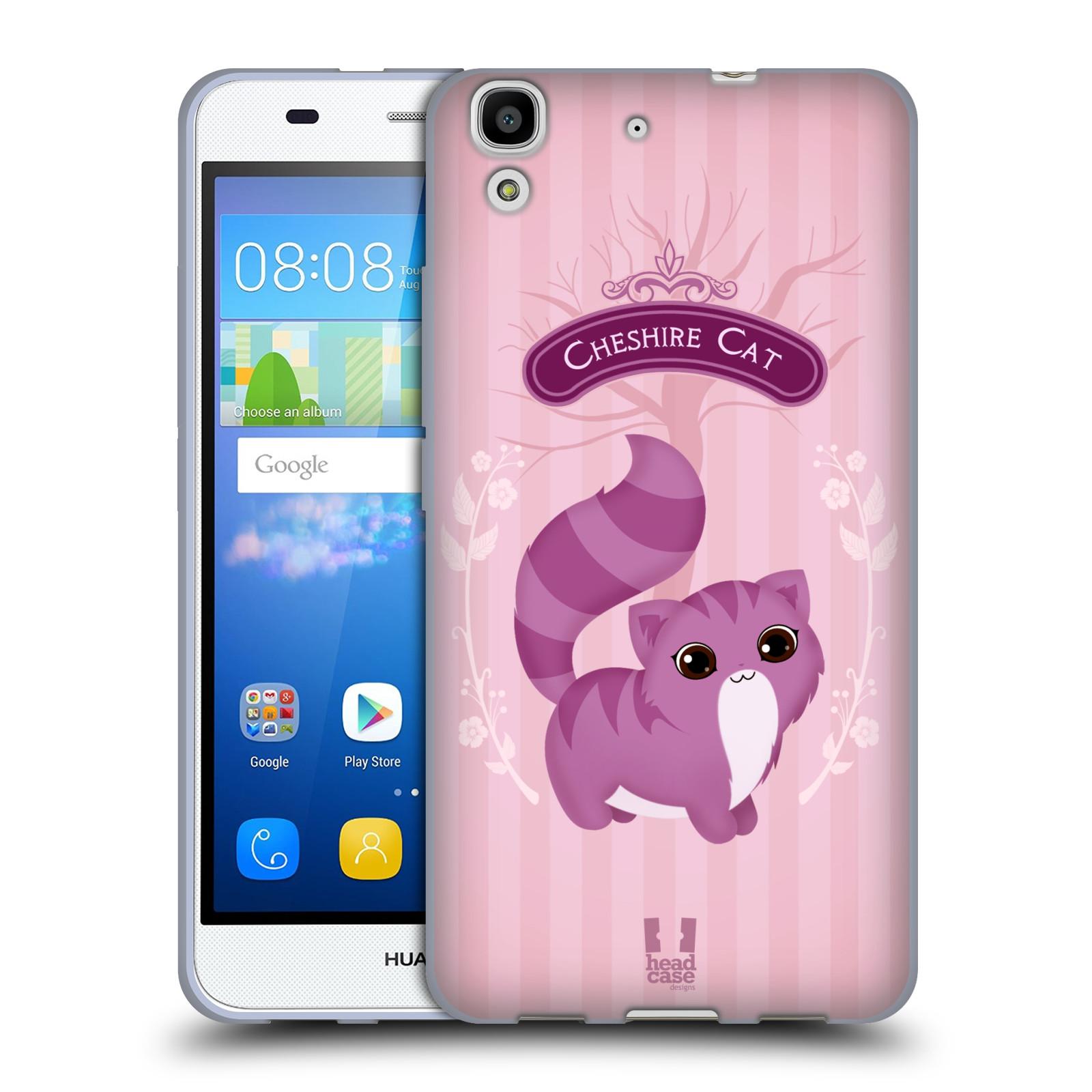 HEAD CASE silikonový obal na mobil HUAWEI Y6 vzor Alenka v říši divů kočička