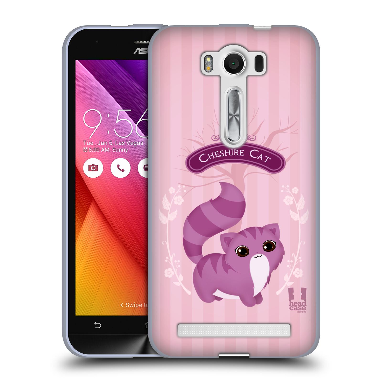 """HEAD CASE silikonový obal na mobil Asus Zenfone 2 LASER (ZE500KL s 5"""" displejem) vzor Alenka v říši divů kočička"""