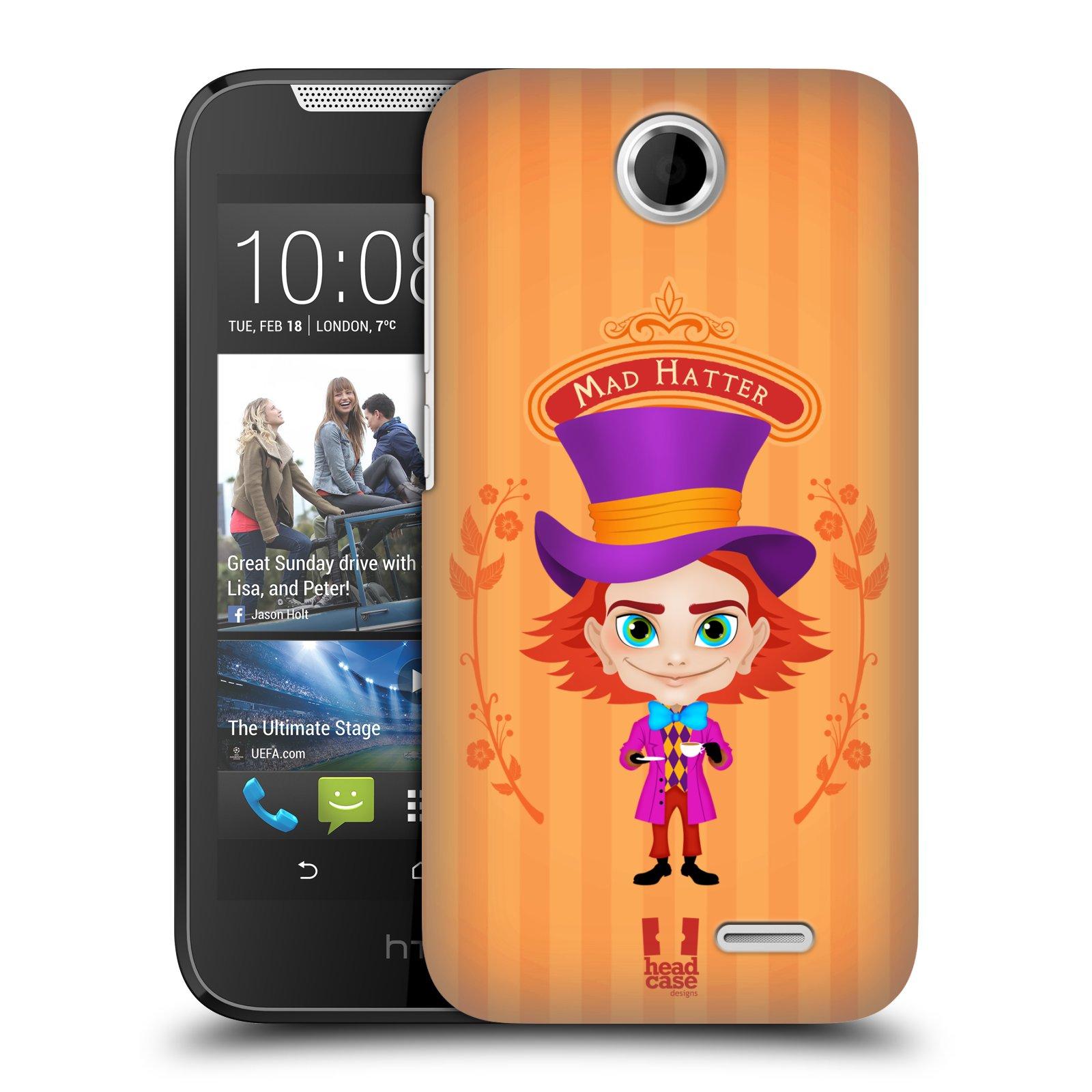 HEAD CASE plastový obal na mobil HTC Desire 310 vzor Alenka v říši divů buřinka
