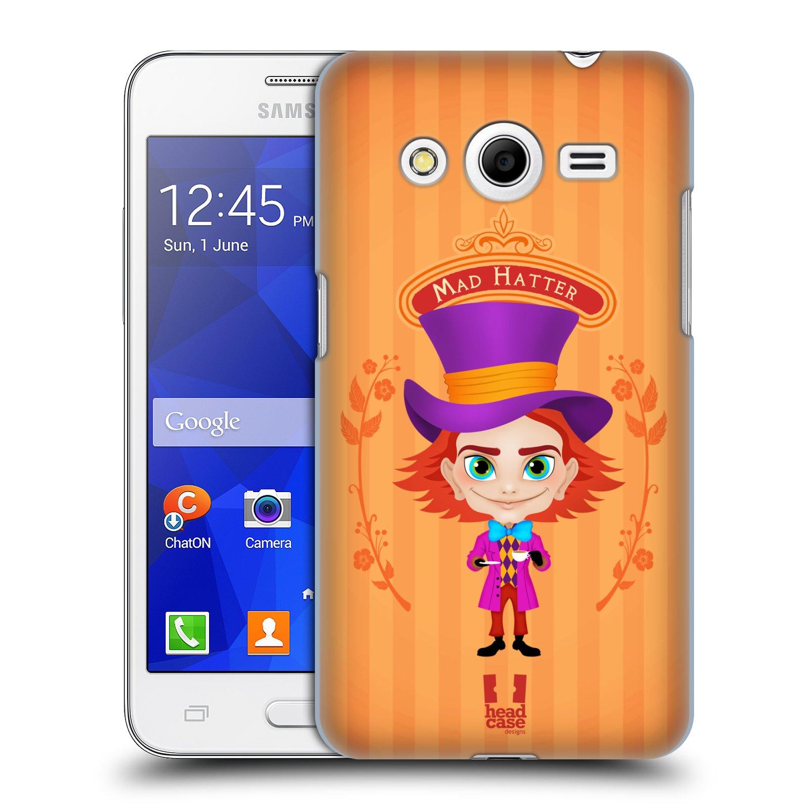 HEAD CASE plastový obal na mobil SAMSUNG GALAXY Core 2 (G355H) vzor Alenka v říši divů buřinka