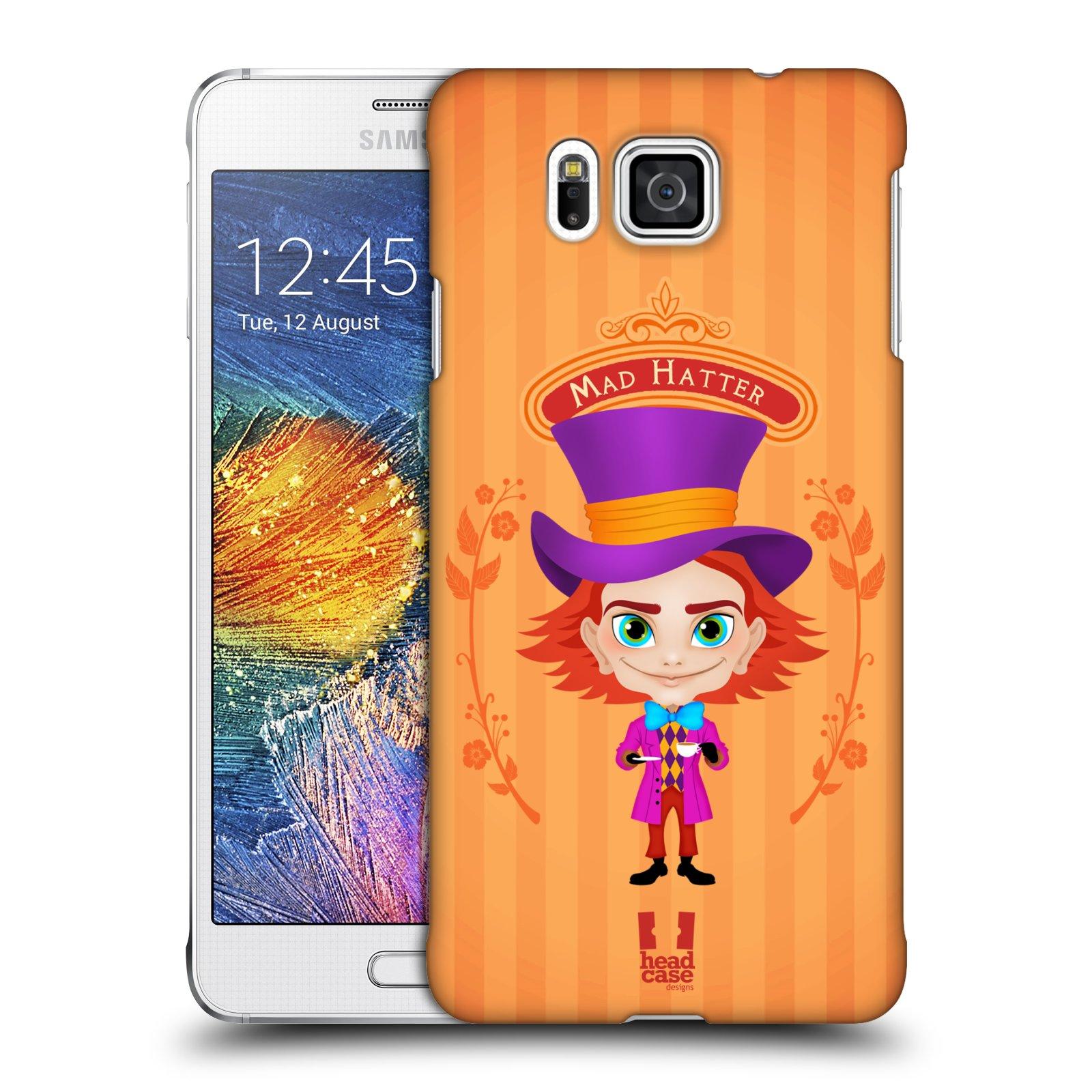 HEAD CASE plastový obal na mobil SAMSUNG Galaxy Alpha (G850) vzor Alenka v říši divů buřinka