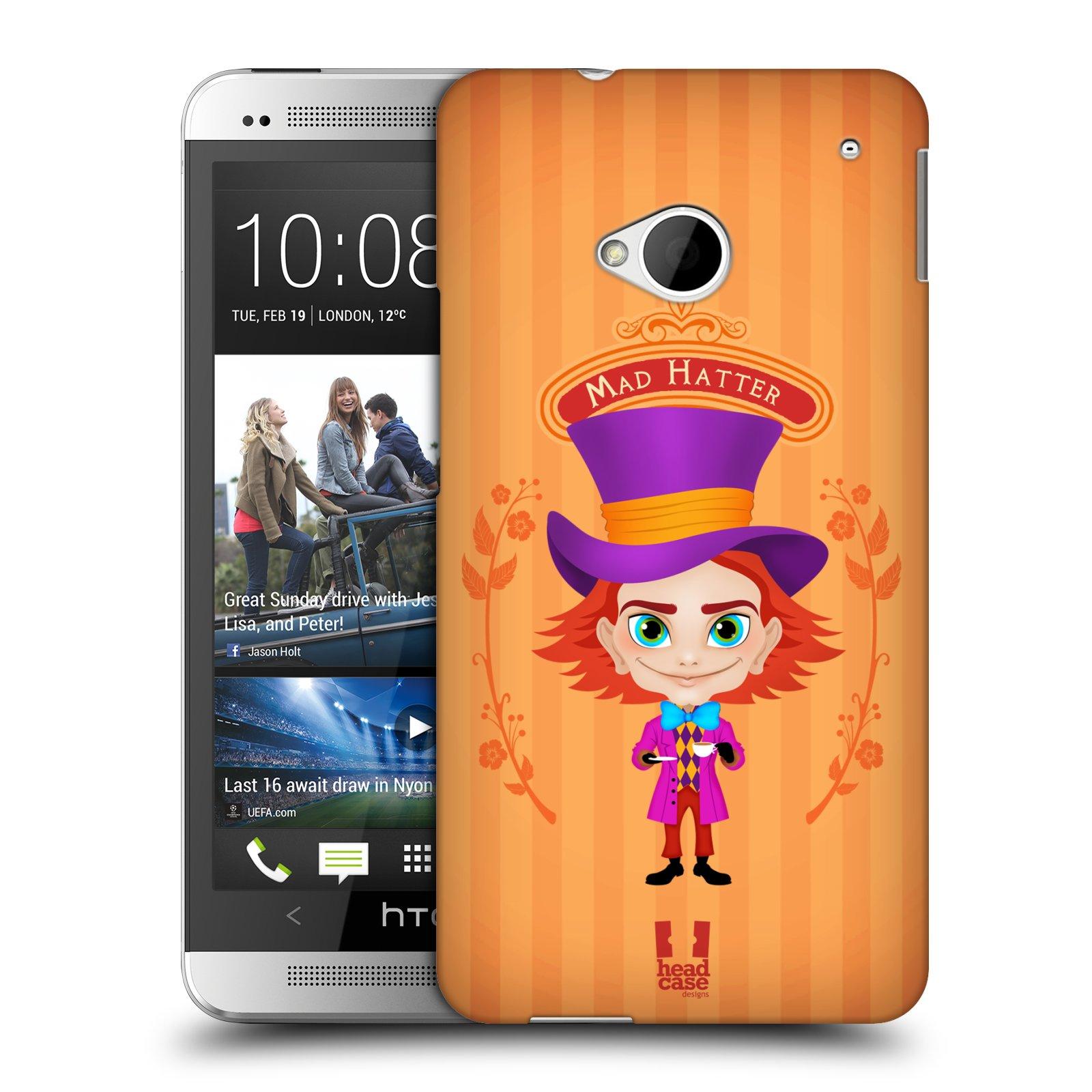 HEAD CASE plastový obal na mobil HTC One (M7) vzor Alenka v říši divů buřinka