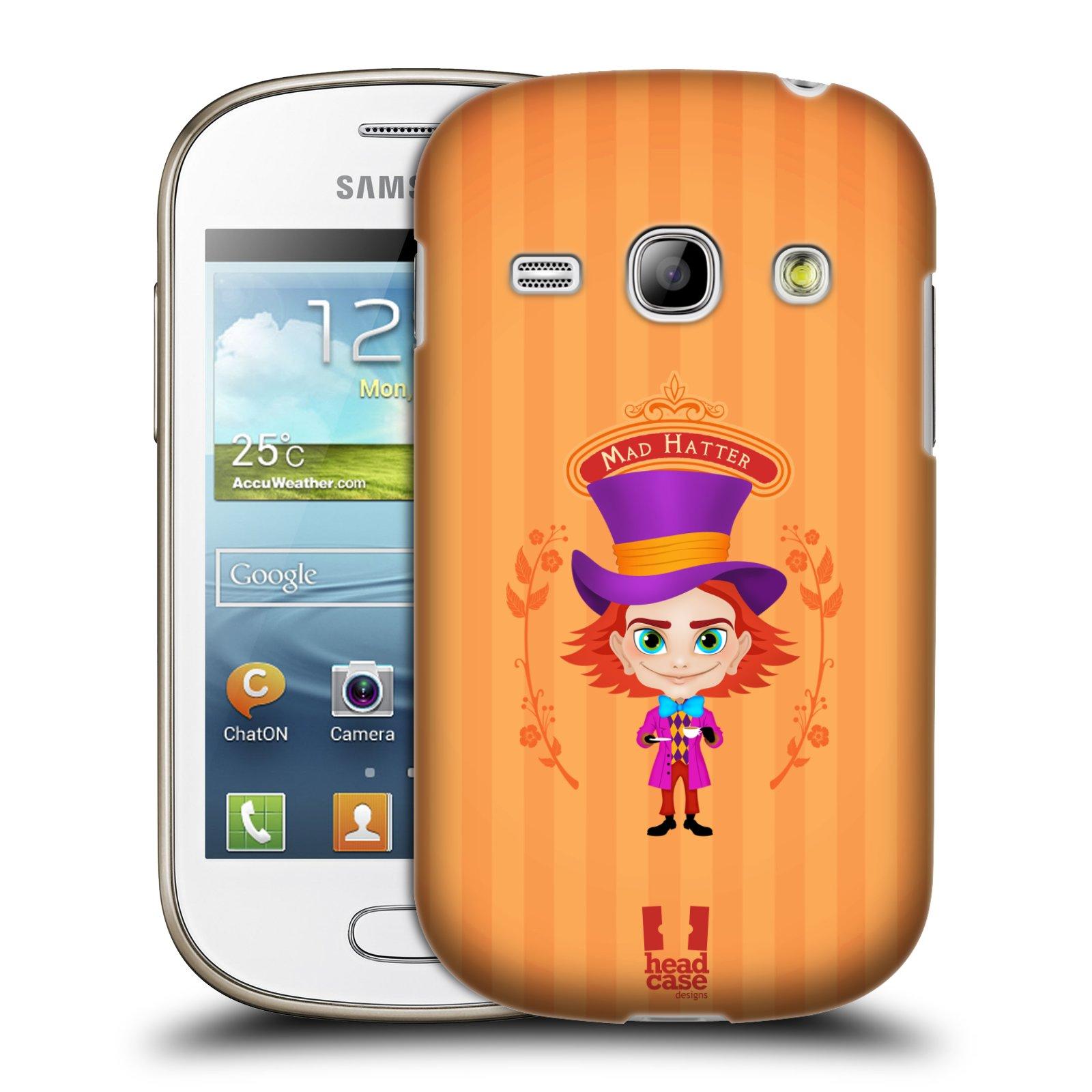 HEAD CASE plastový obal na mobil SAMSUNG GALAXY FAME (S6810) vzor Alenka v říši divů buřinka