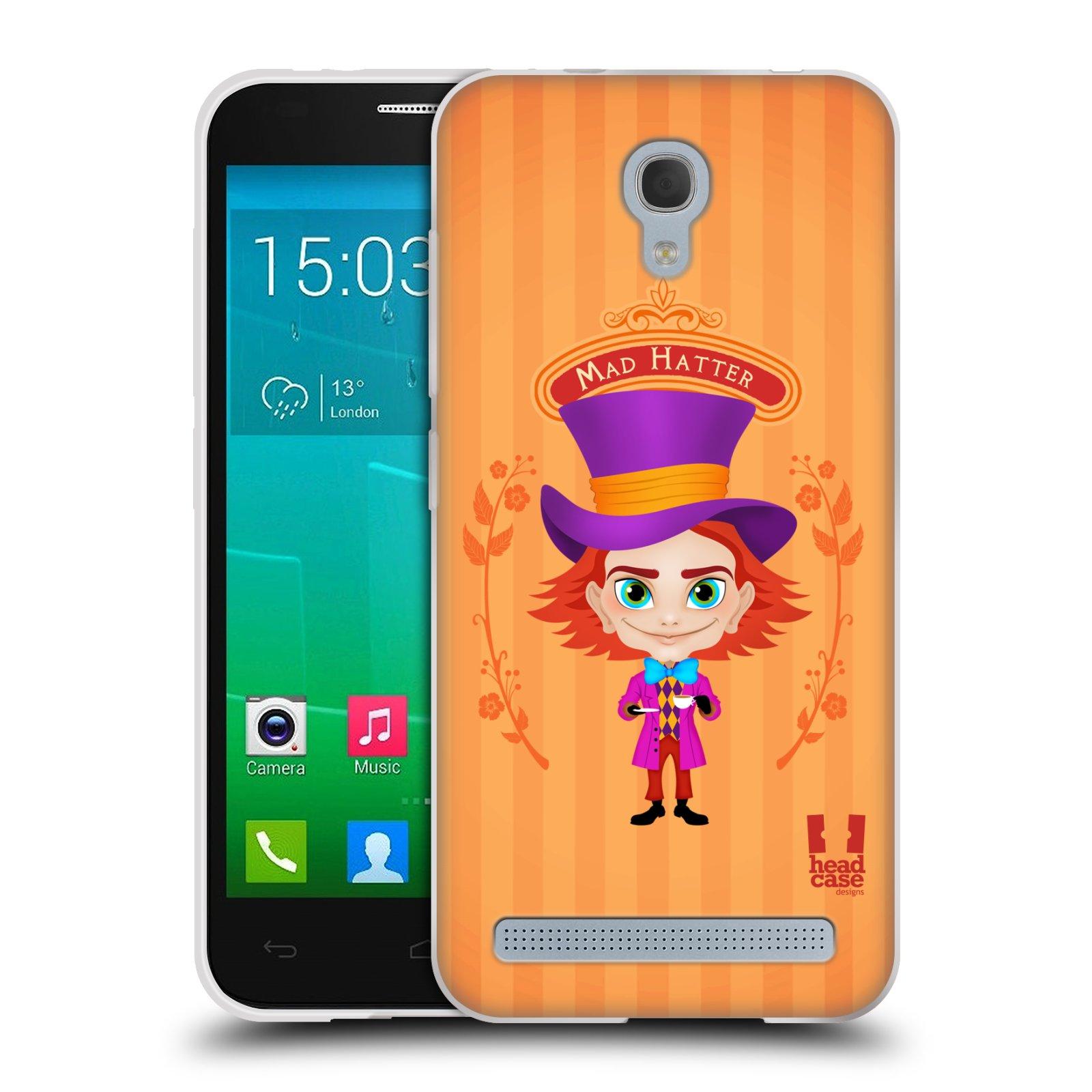 HEAD CASE silikonový obal na mobil Alcatel Idol 2 MINI S 6036Y vzor Alenka v říši divů buřinka