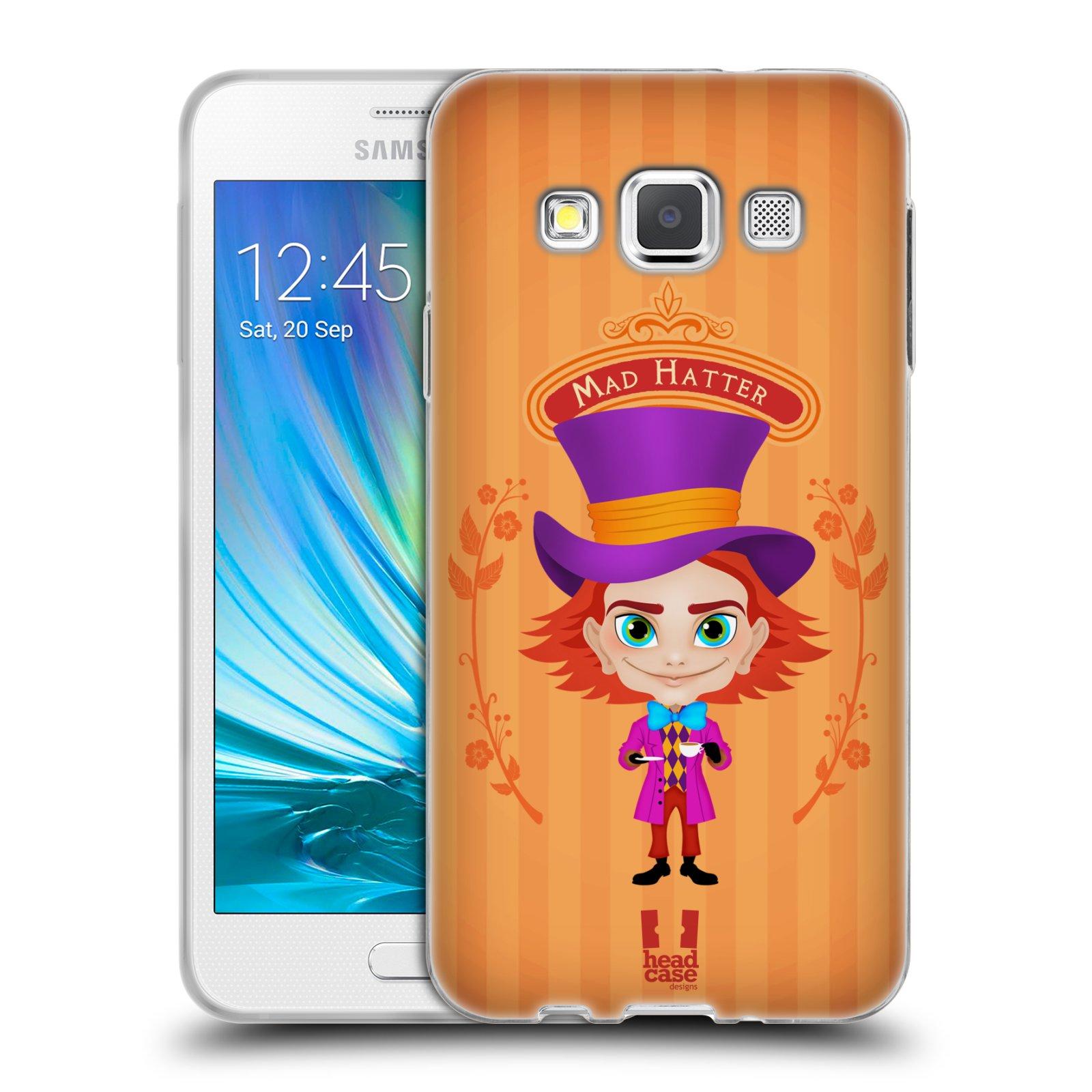 HEAD CASE silikonový obal na mobil Samsung Galaxy A3 vzor Alenka v říši divů buřinka