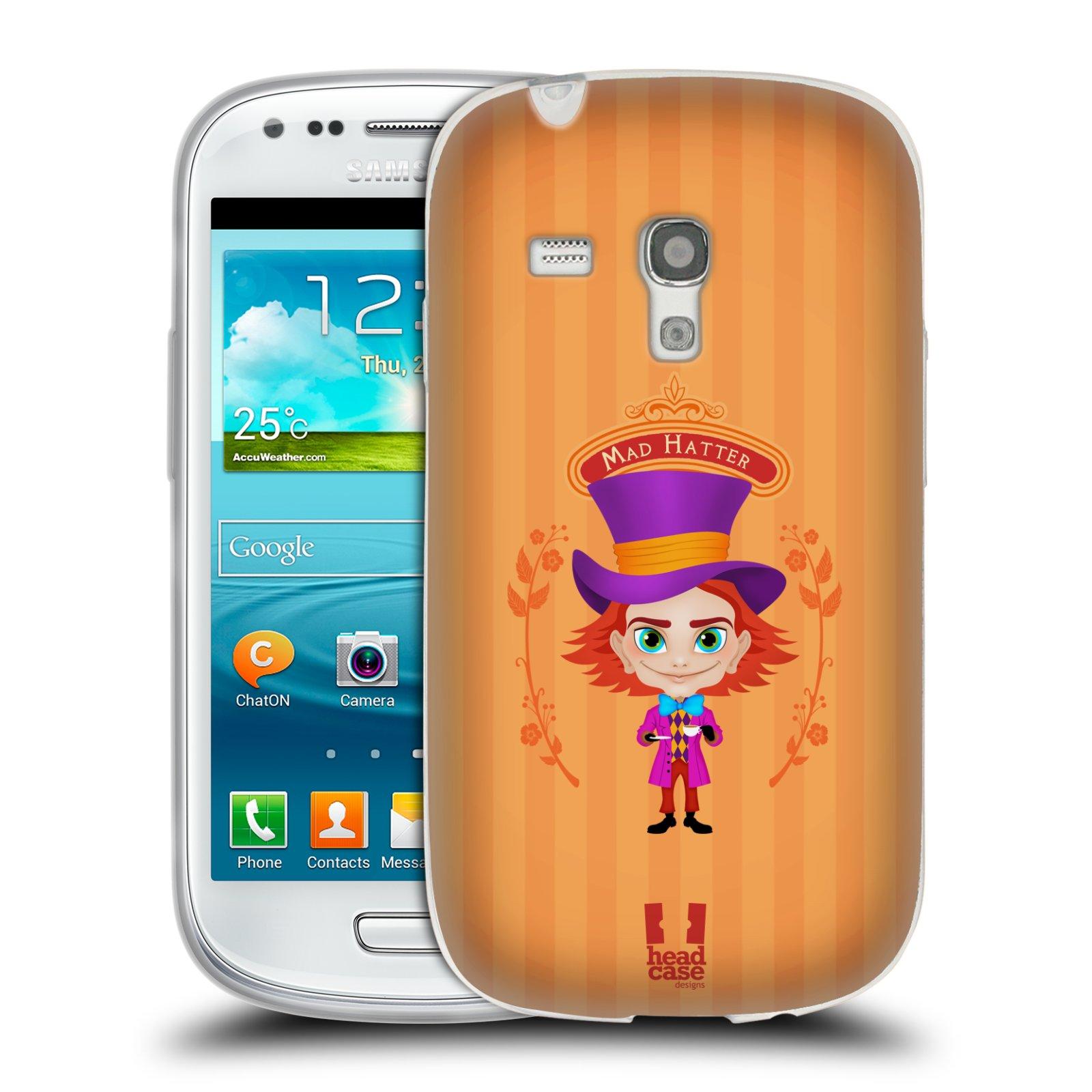 HEAD CASE silikonový obal na mobil Samsung Galaxy S3 MINI i8190 vzor Alenka v říši divů buřinka