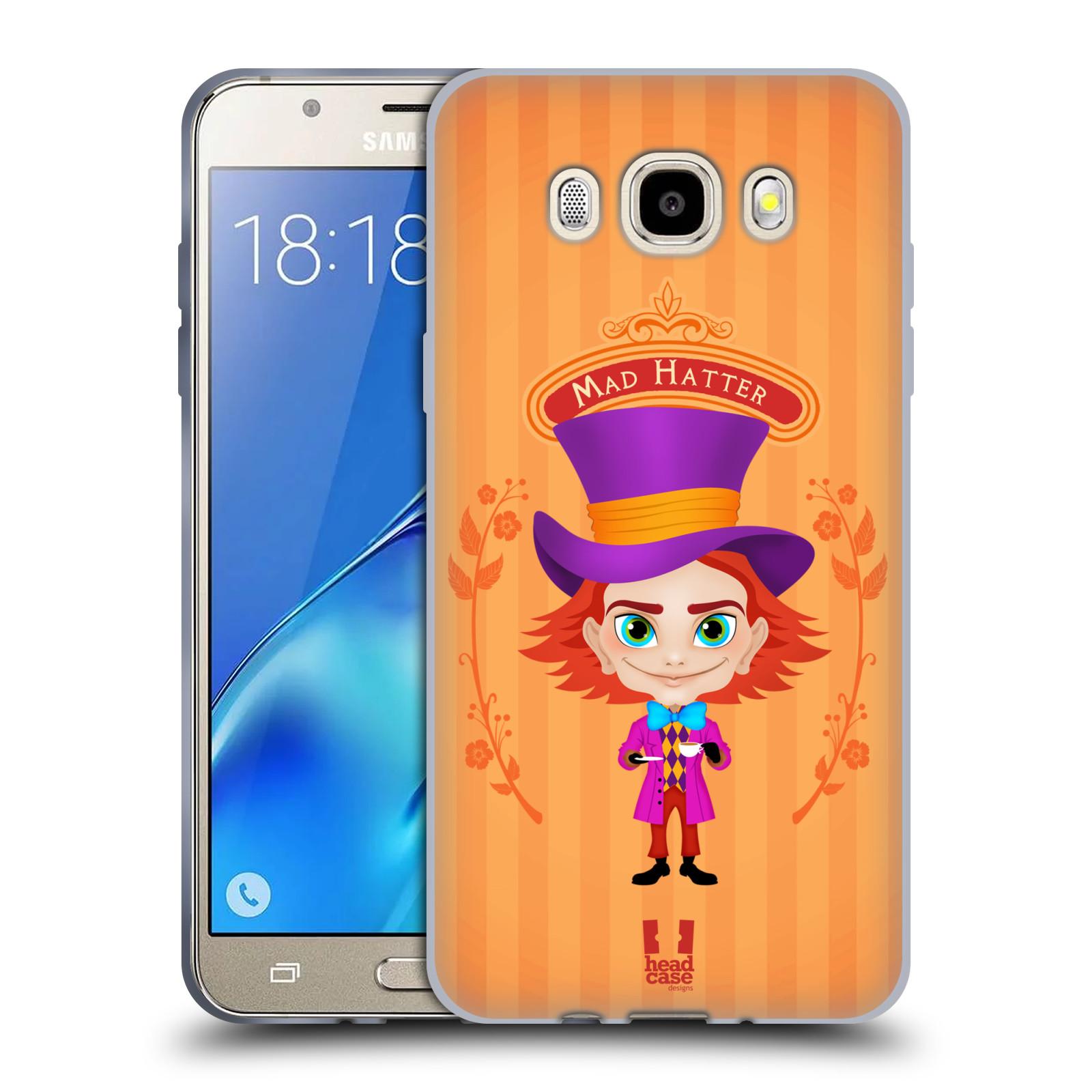 HEAD CASE silikonový obal, kryt na mobil Samsung Galaxy J5 2016, J510, J510F, (J510F DUAL SIM) vzor Alenka v říši divů buřinka