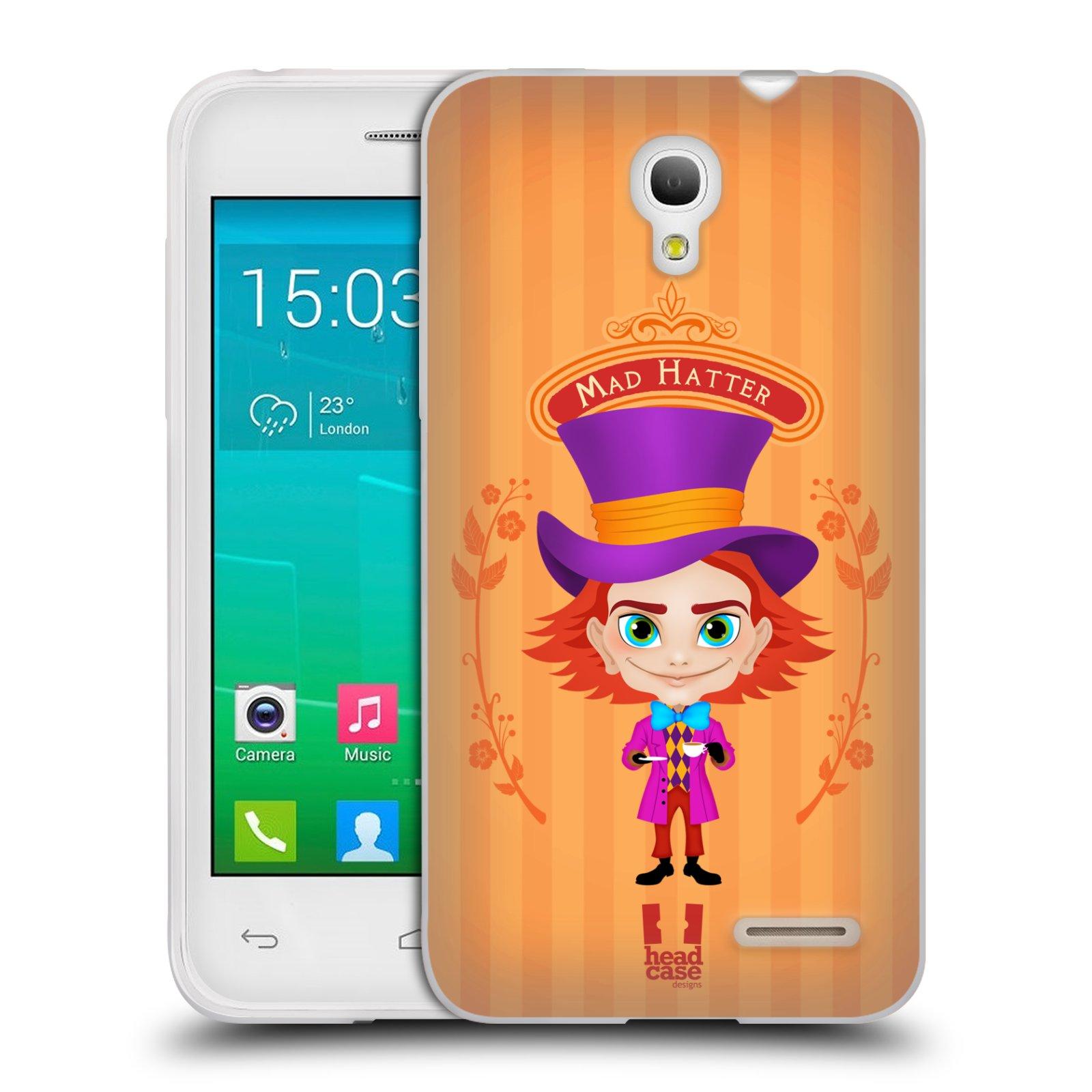 HEAD CASE silikonový obal na mobil Alcatel POP S3 OT-5050Y vzor Alenka v říši divů buřinka