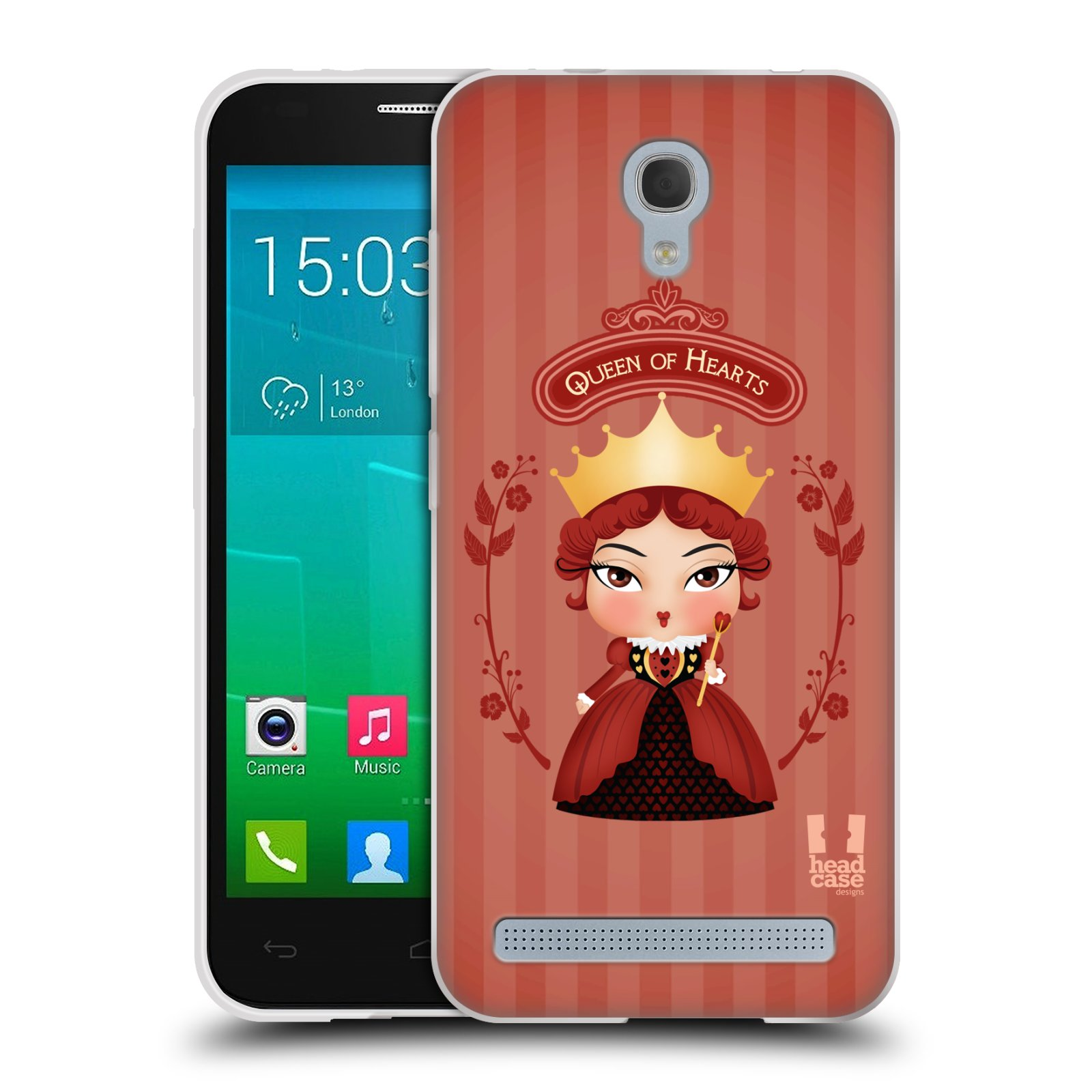 HEAD CASE silikonový obal na mobil Alcatel Idol 2 MINI S 6036Y vzor Alenka v říši divů královna